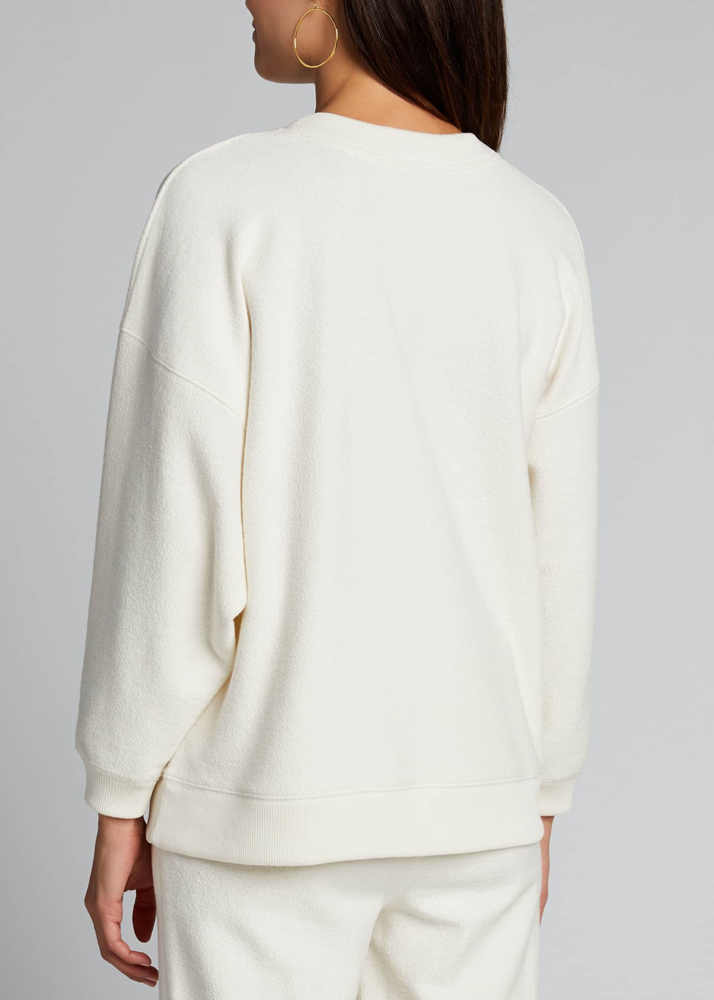 Image 2 of 5: Ribbed Long-Sleeve Pullover