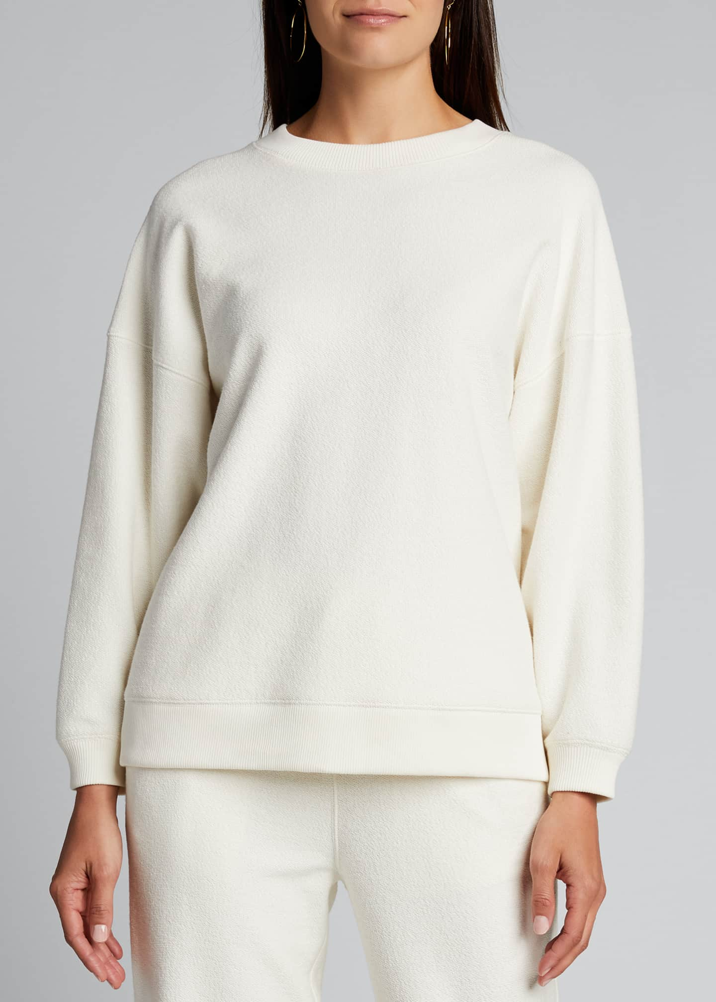 Image 3 of 5: Ribbed Long-Sleeve Pullover