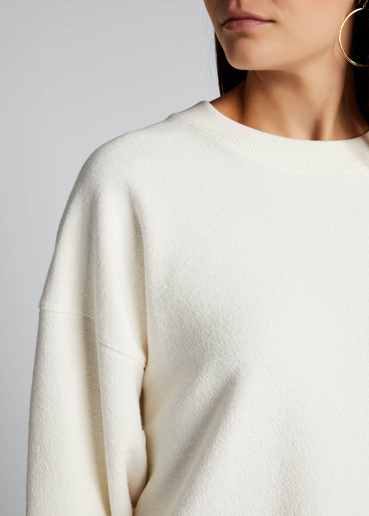 Image 4 of 5: Ribbed Long-Sleeve Pullover