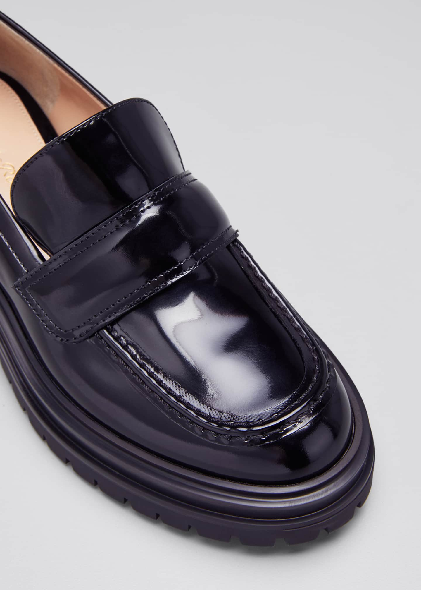 Image 5 of 5: 20mm Spazzolato Lug-Sole Loafers