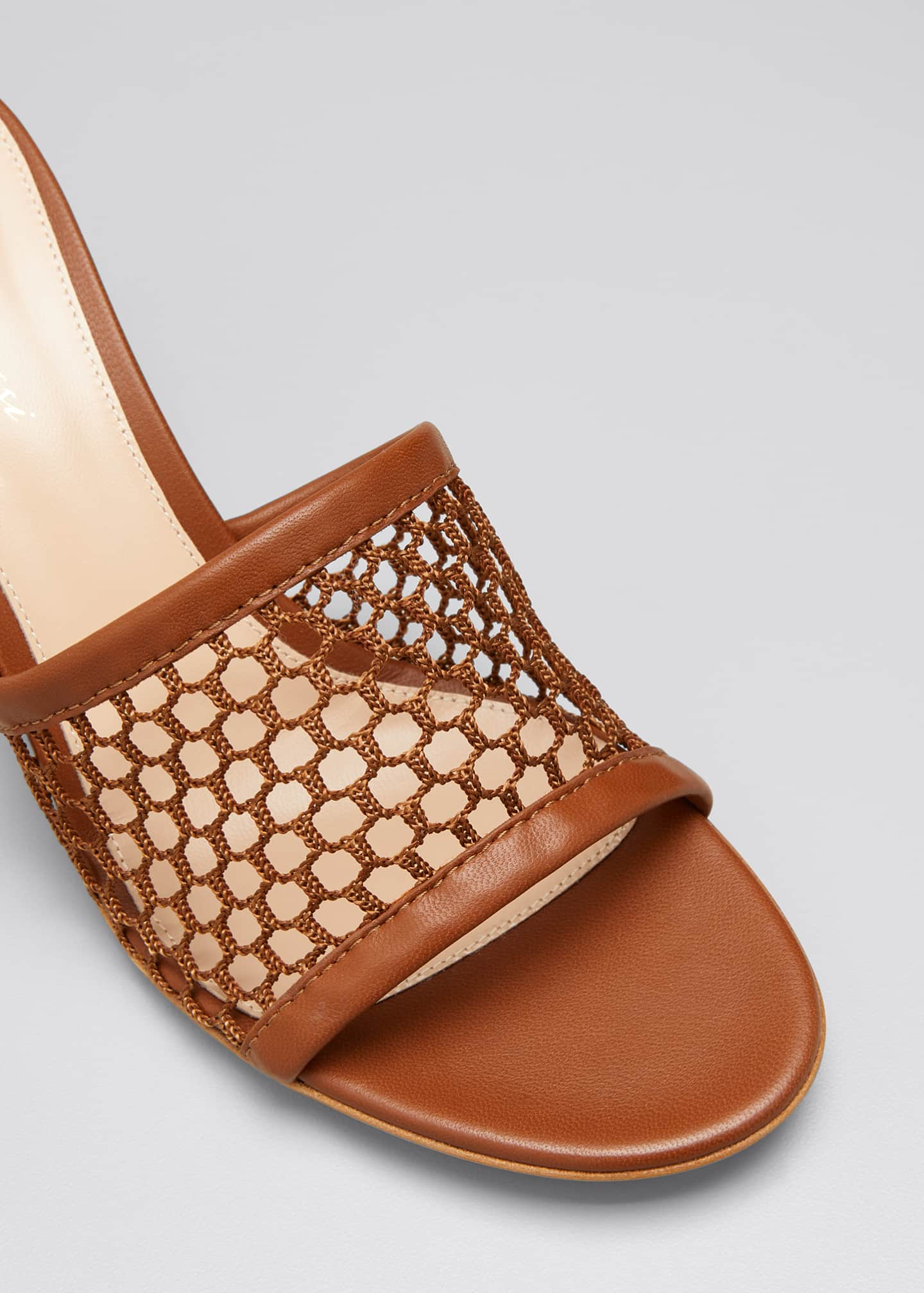 Image 5 of 5: 70mm Napa Mesh Heel Mules