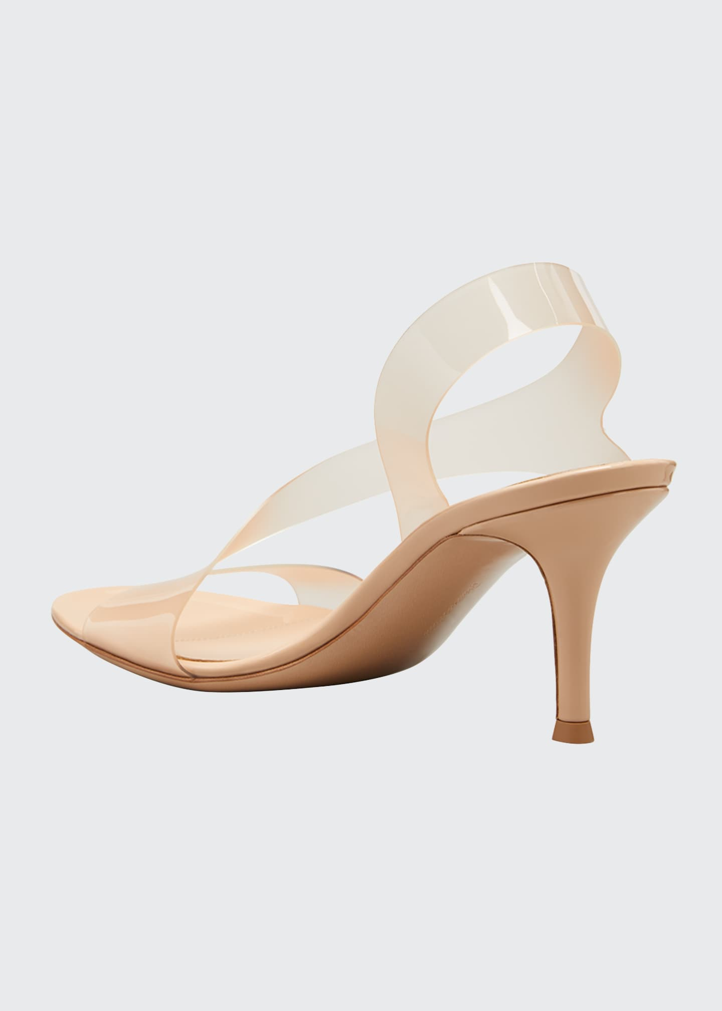 Image 4 of 5: Metropolis 70mm Plexi Stretch Sandals
