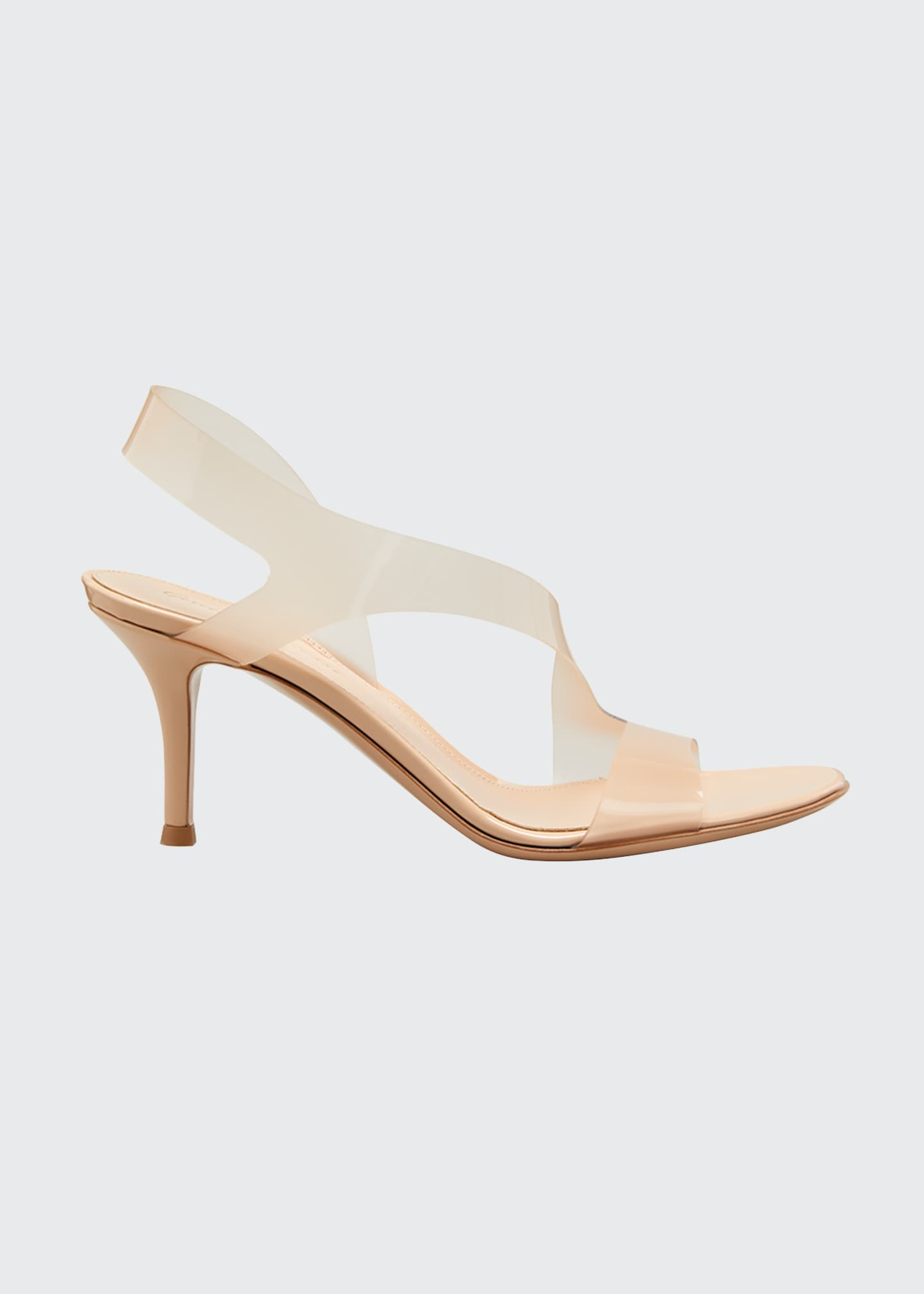 Image 1 of 5: Metropolis 70mm Plexi Stretch Sandals