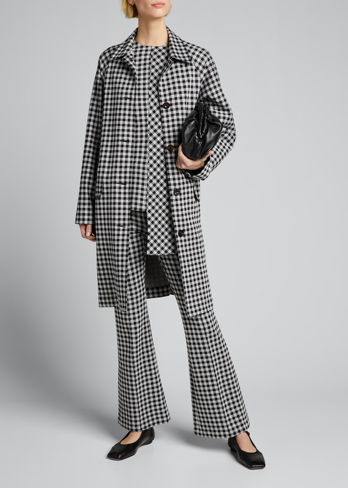 Image 1 of 5: Checked Cocoon Coat
