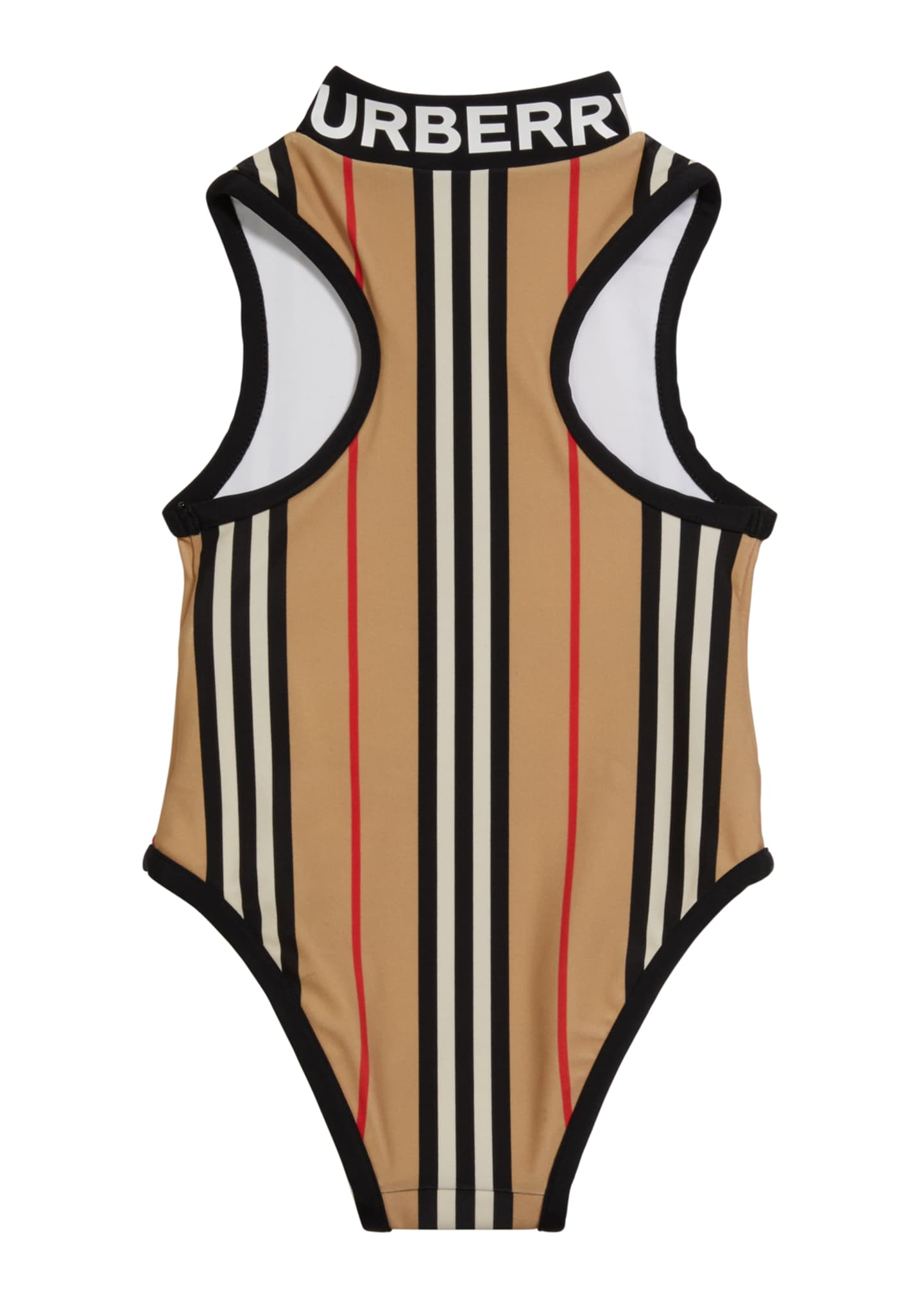 Image 2 of 2: Girl's Siera Archive Stripe One-Piece Swimsuit, Size 3-14