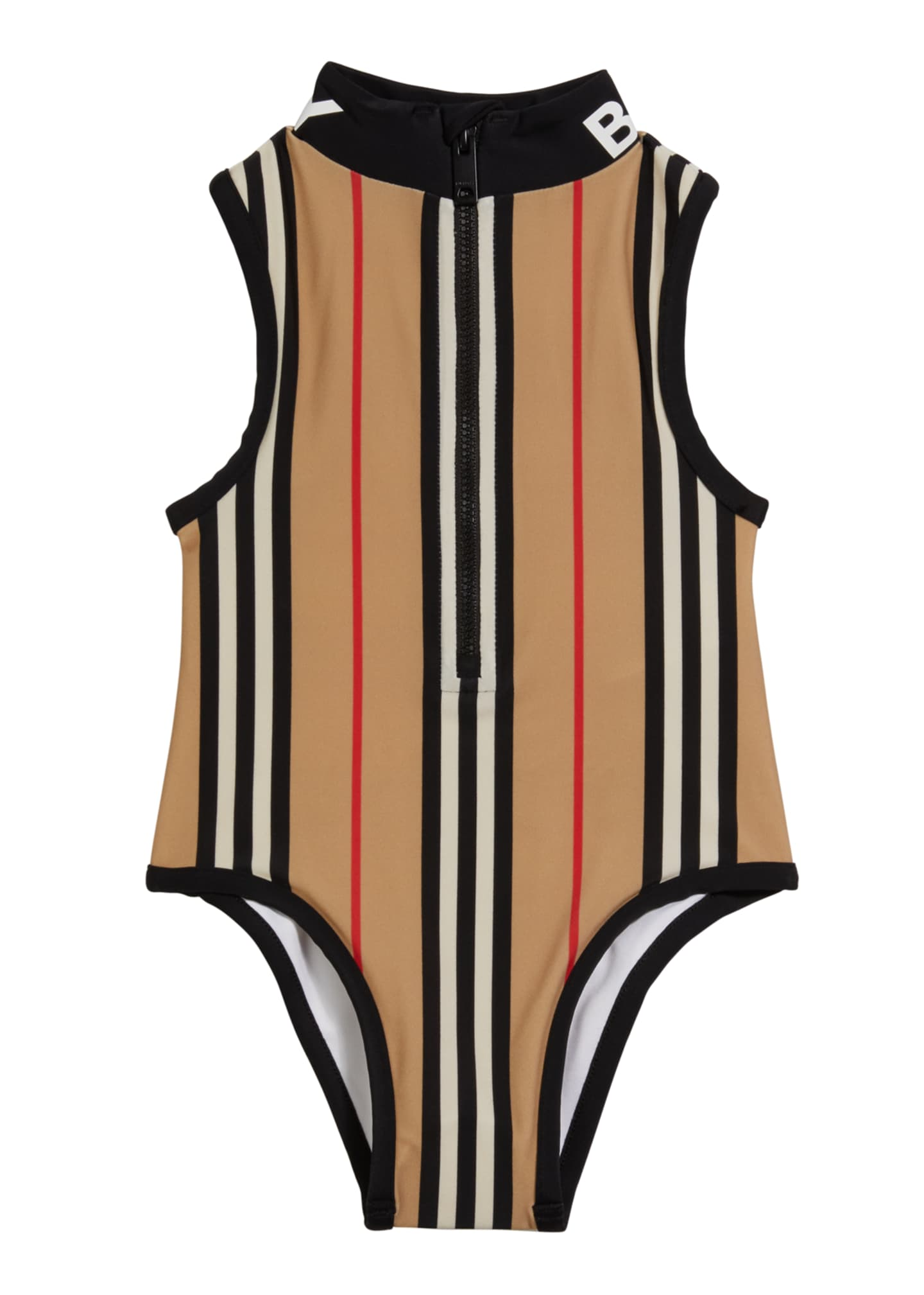 Image 1 of 2: Girl's Siera Archive Stripe One-Piece Swimsuit, Size 3-14