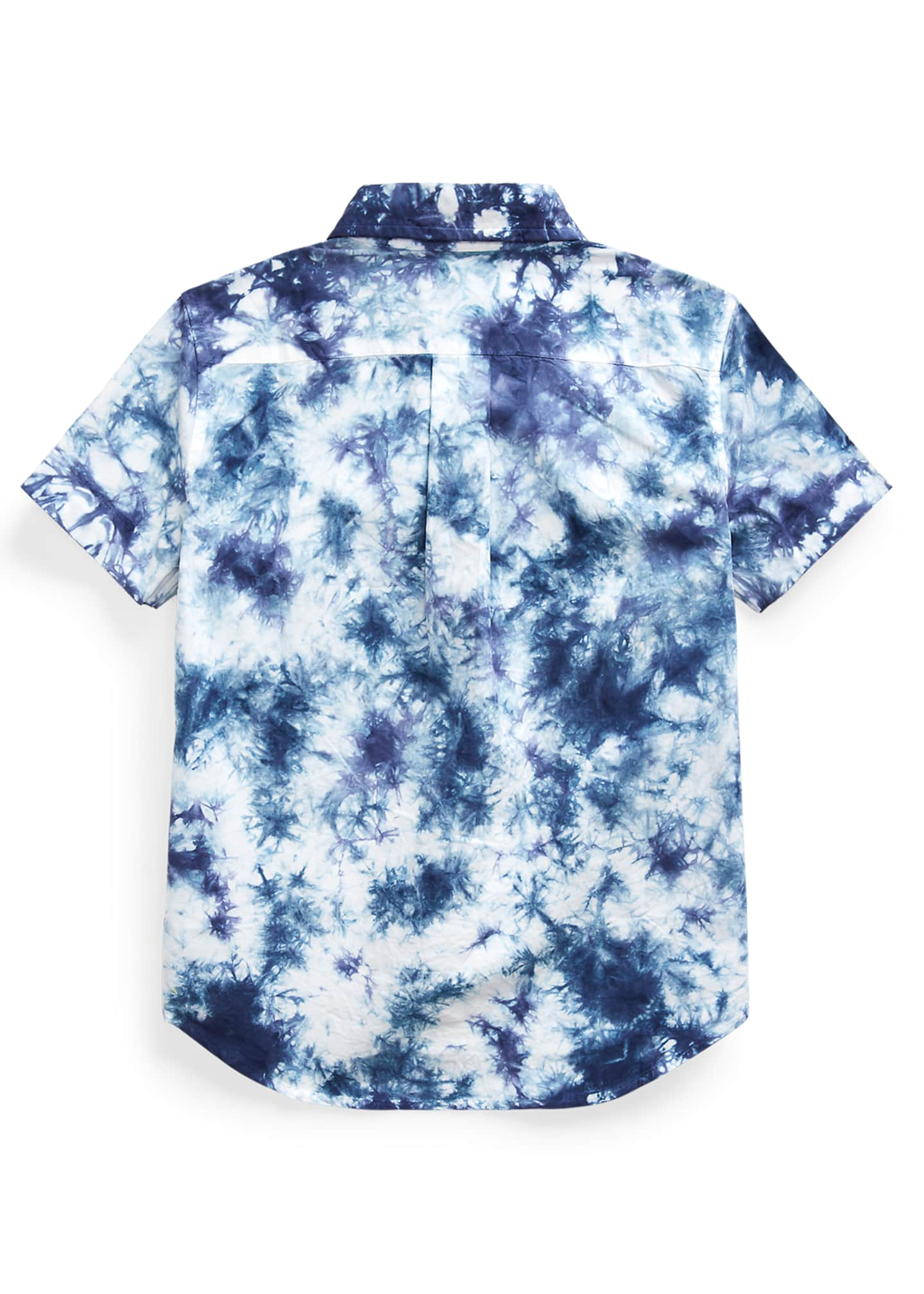 Image 2 of 2: Boy's Tie Dyed Poplin Button-Down Shirt, Size 2-4