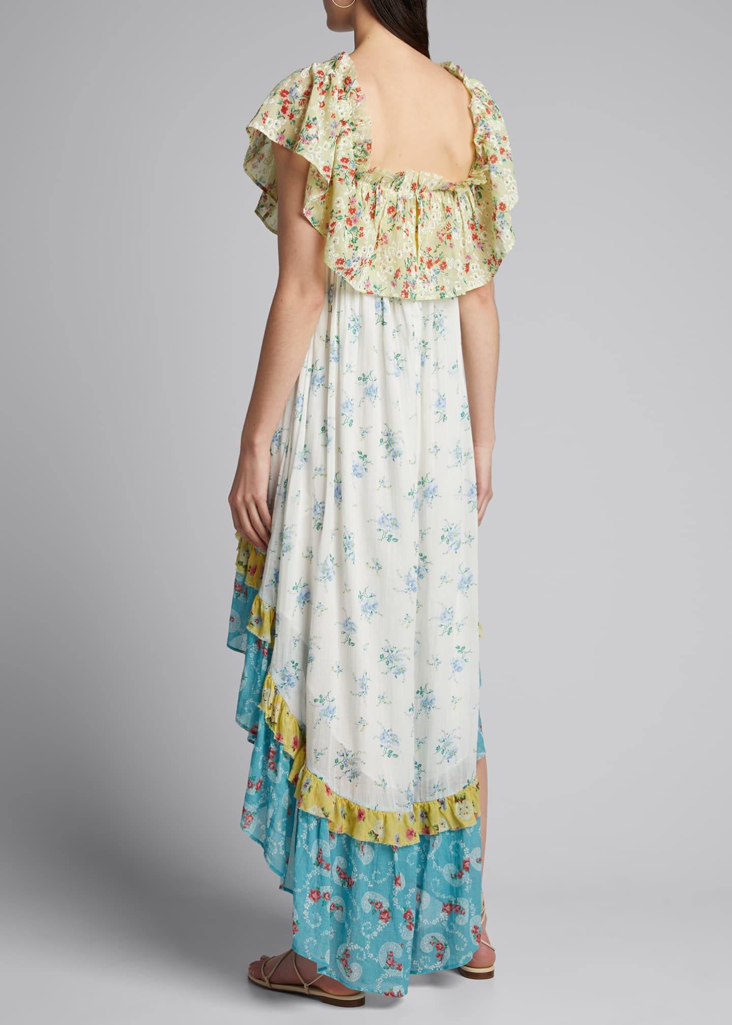 Image 2 of 5: Alexia Floral High-Low Ruffle Dress
