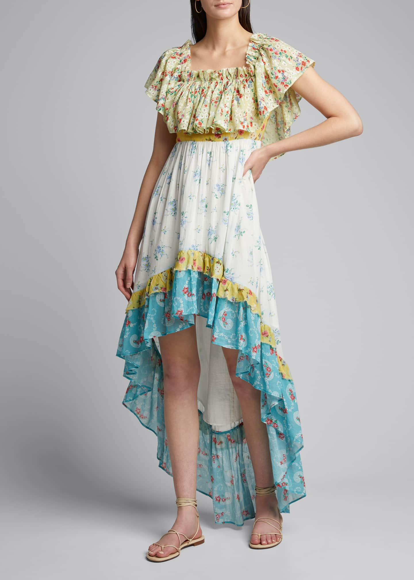 Image 3 of 5: Alexia Floral High-Low Ruffle Dress
