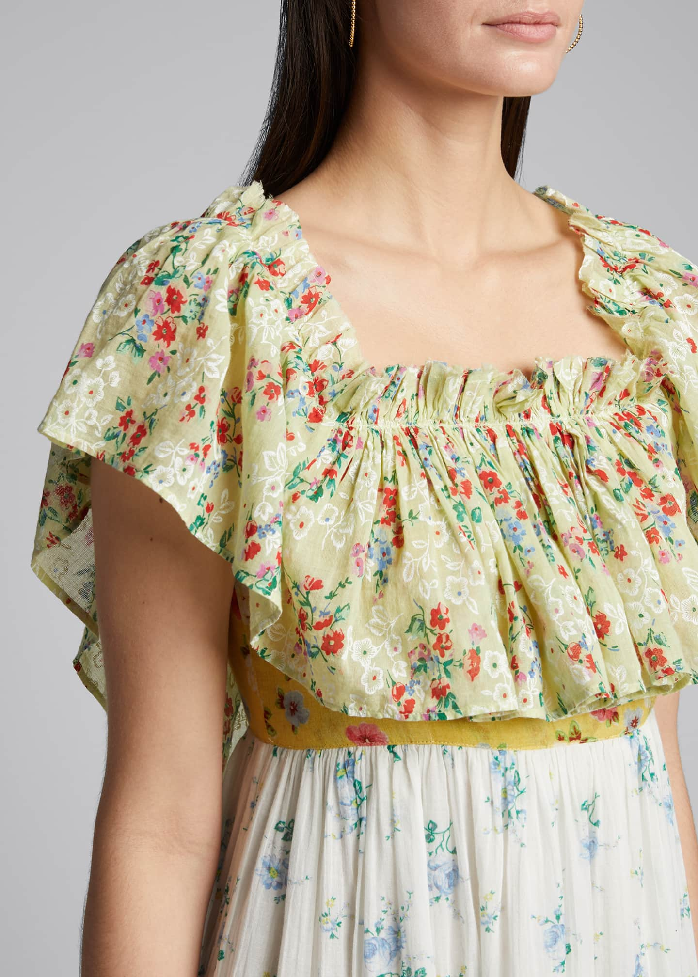 Image 4 of 5: Alexia Floral High-Low Ruffle Dress