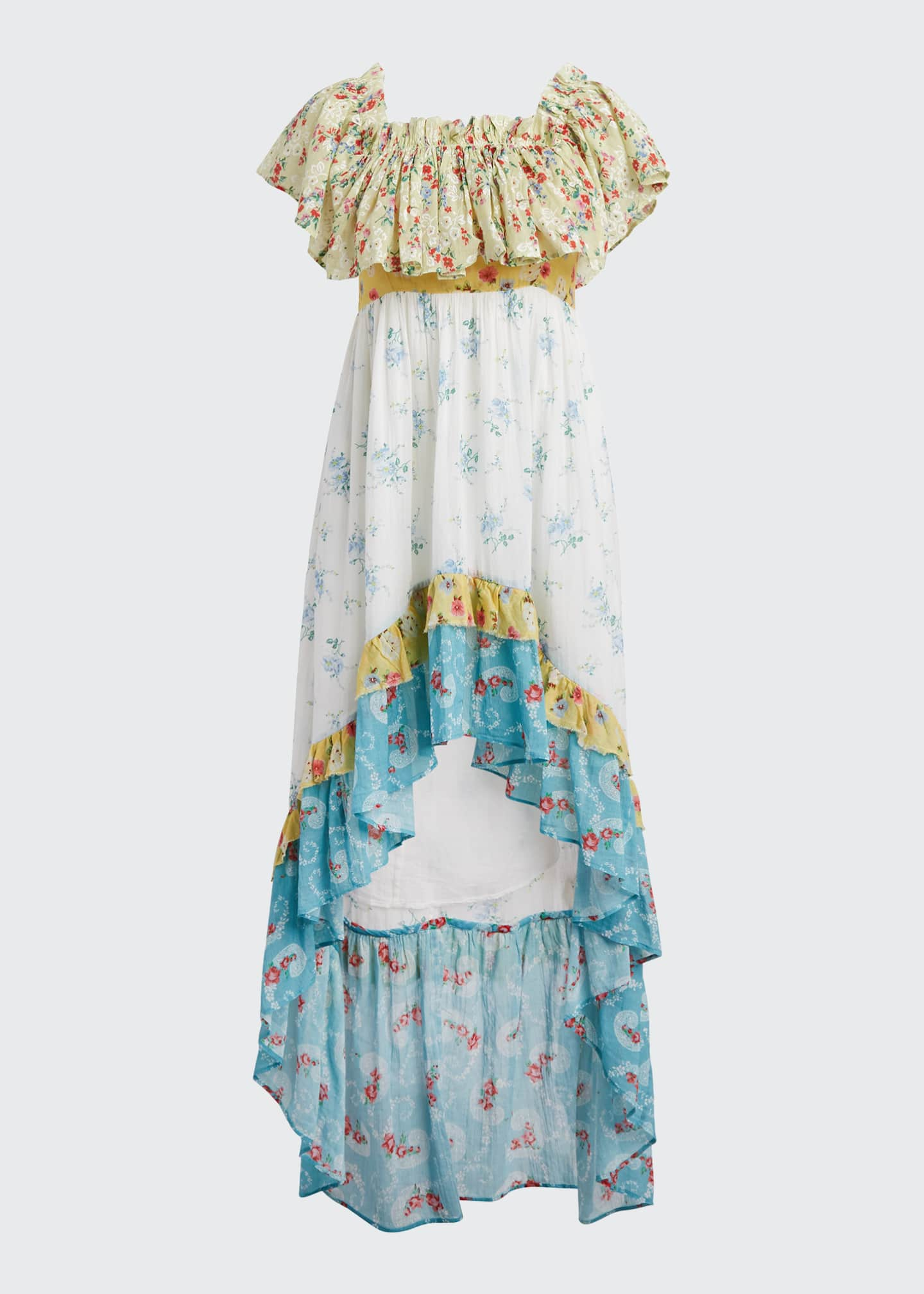 Image 5 of 5: Alexia Floral High-Low Ruffle Dress