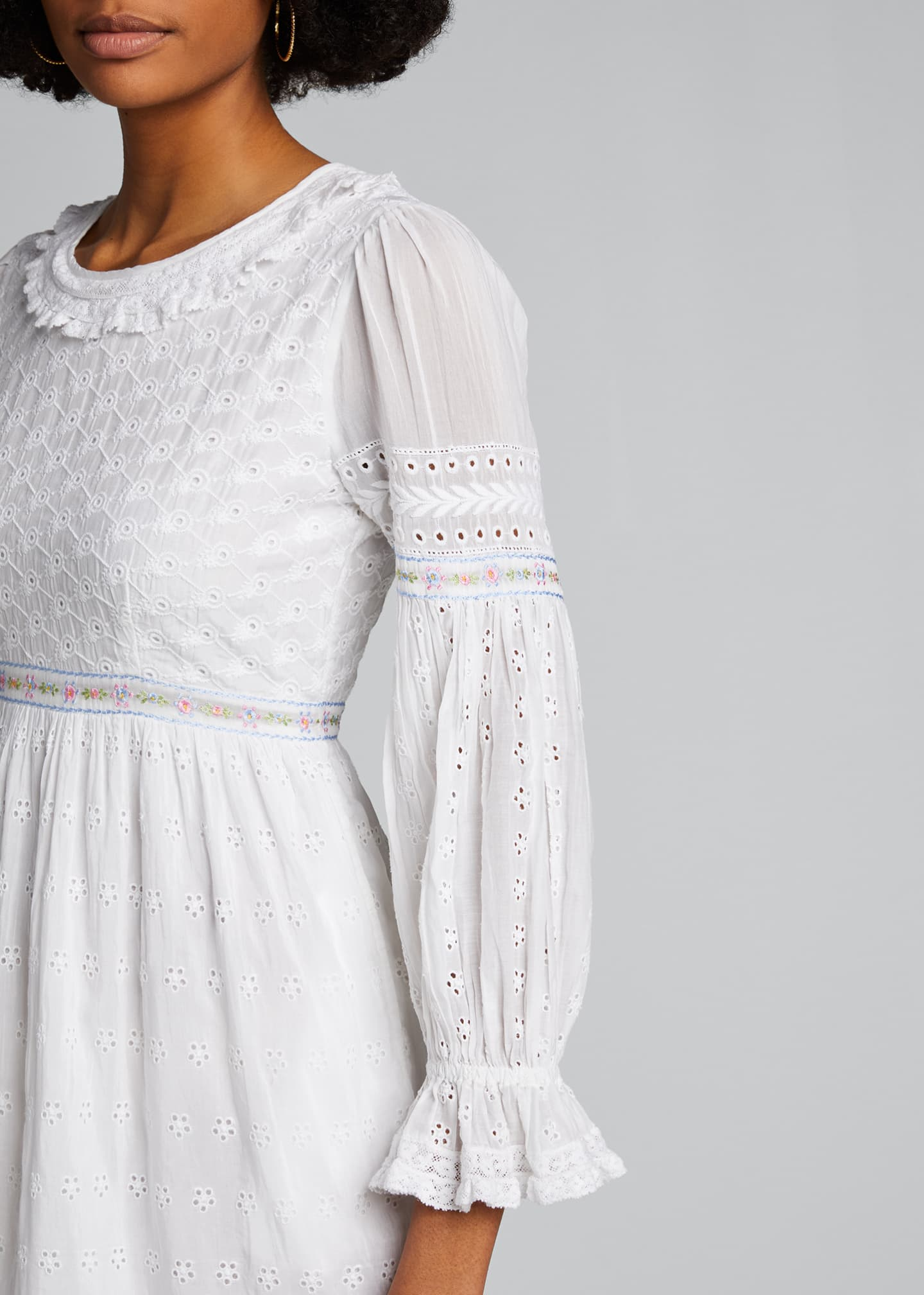 Image 4 of 5: Jullian Eyelet Long-Sleeve