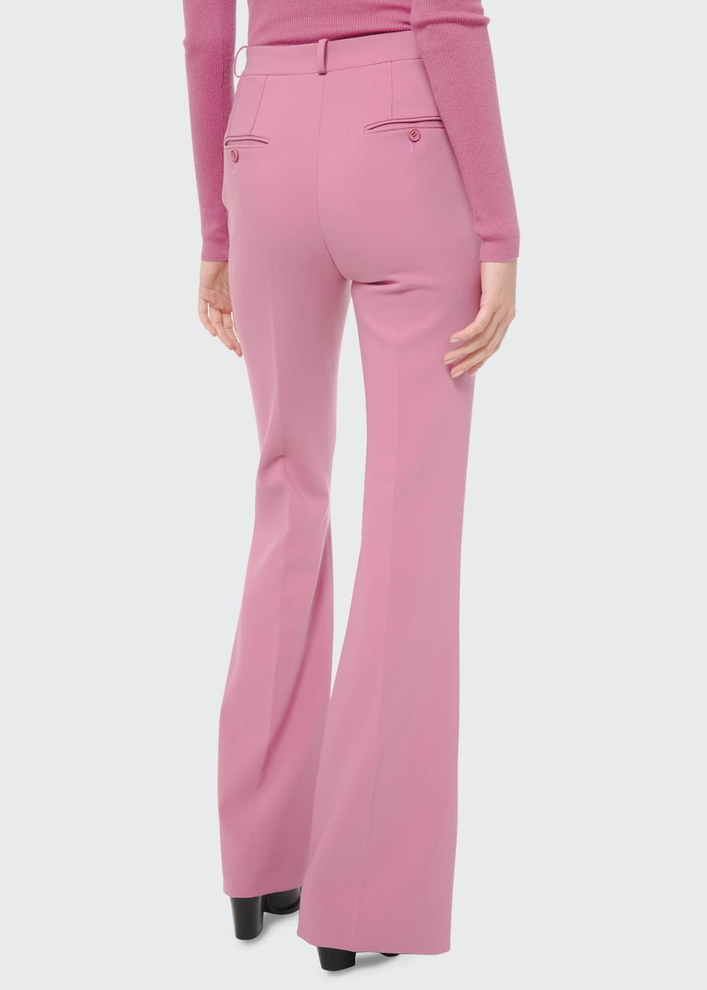 Image 2 of 5: Charlie Crepe High-Rise Flare Pants