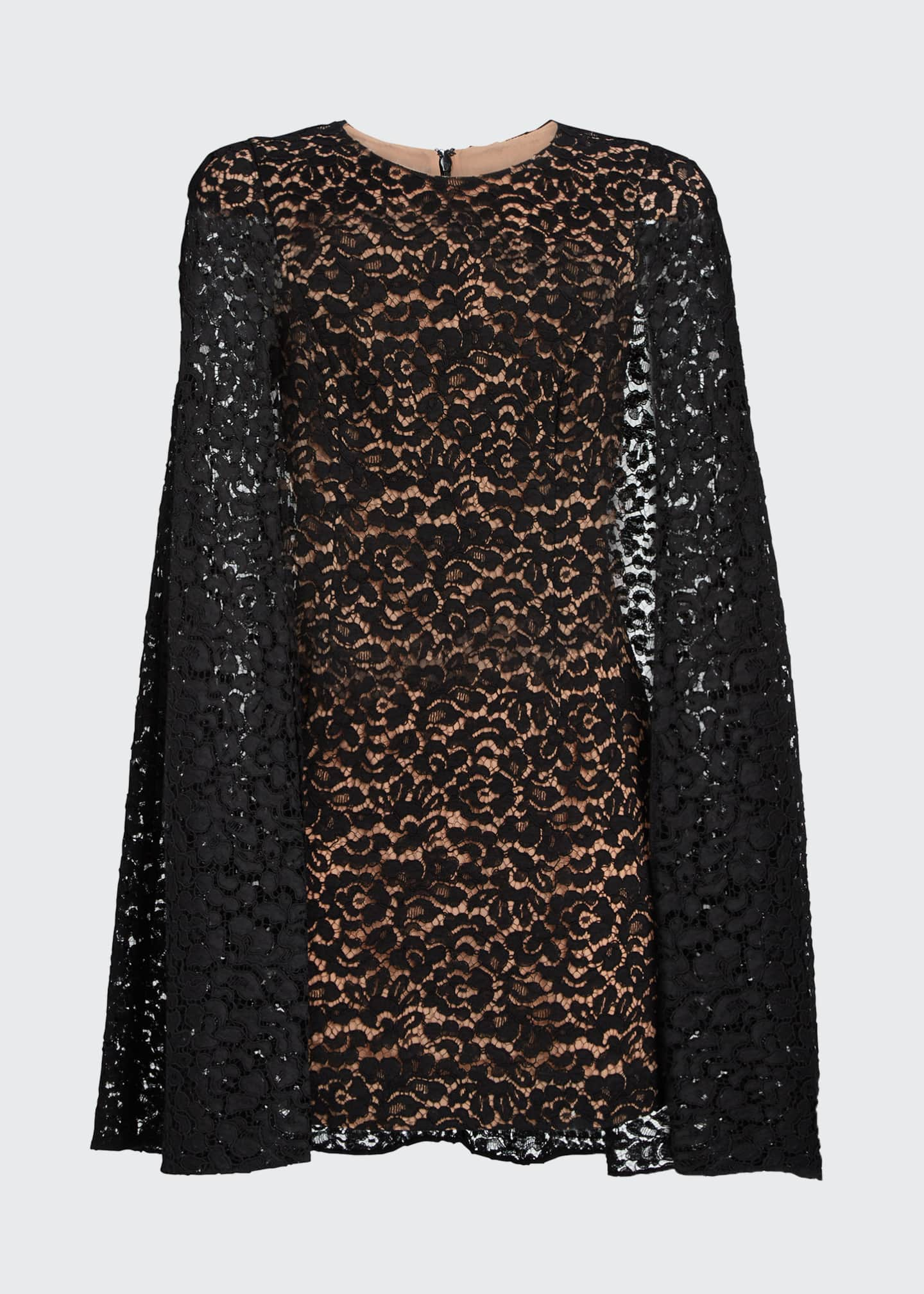 Image 5 of 5: Floral Lace Cape Dress