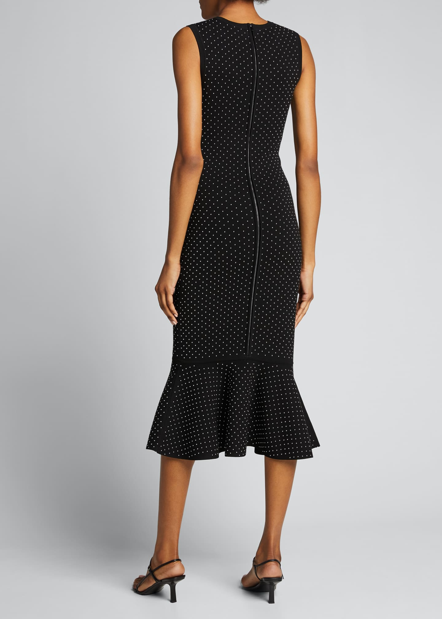 Image 2 of 5: Studded Double-Knit Mermaid Midi Dress
