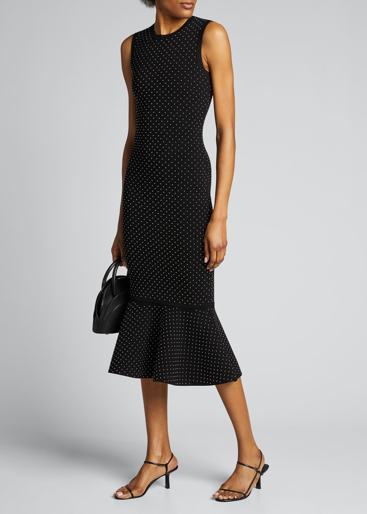 Image 1 of 5: Studded Double-Knit Mermaid Midi Dress