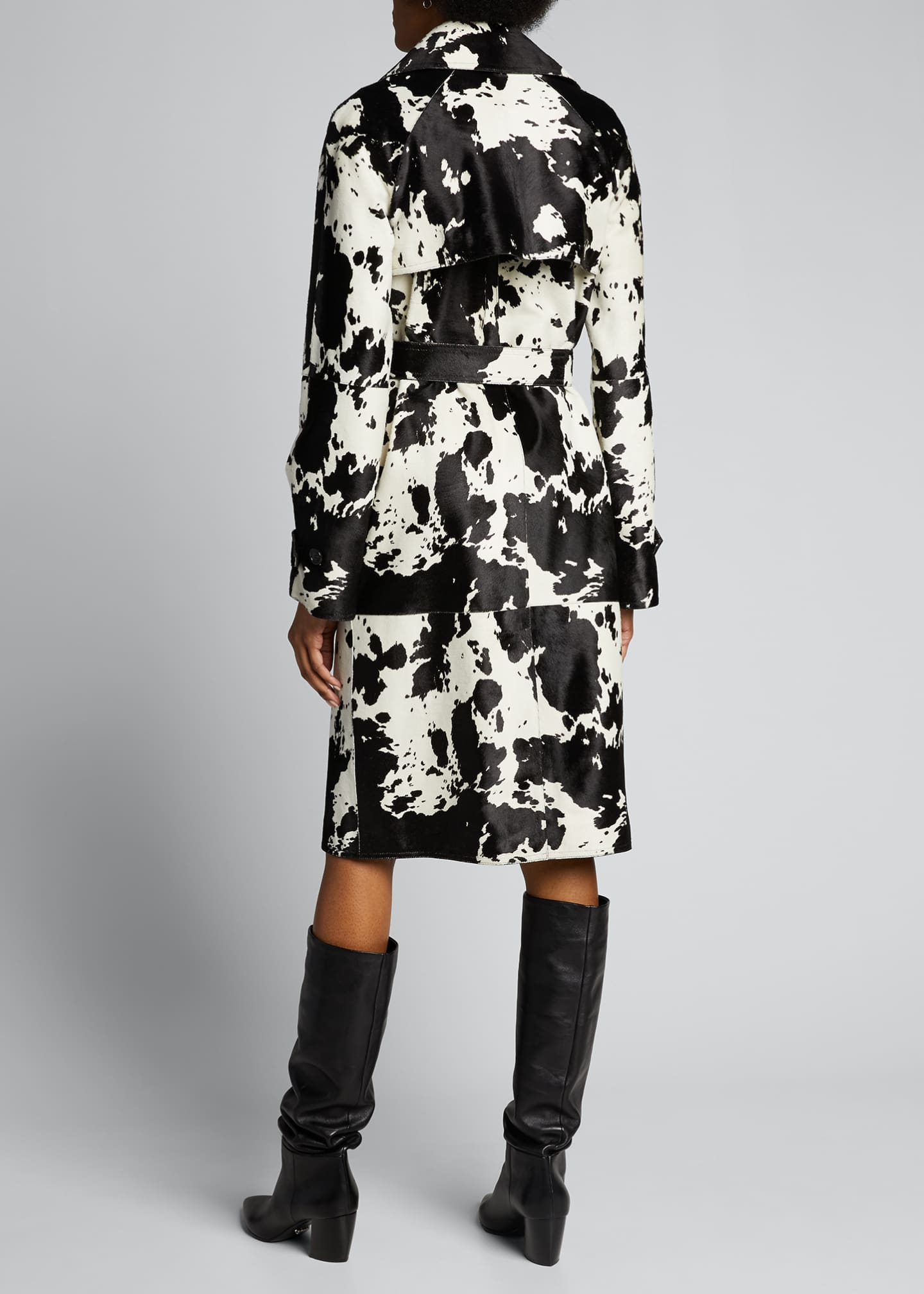 Image 2 of 5: Calf Hair Trench Coat