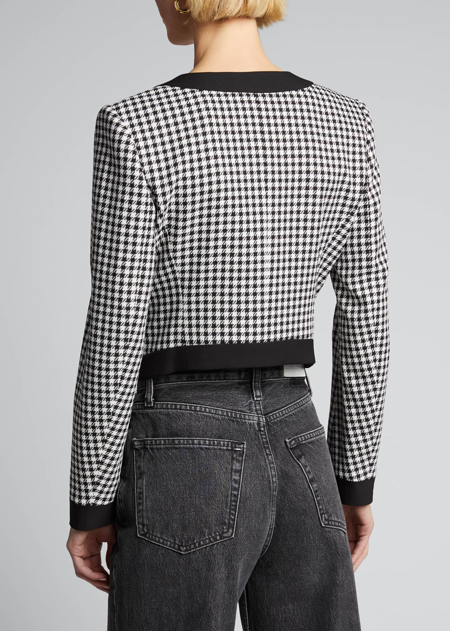 Image 2 of 5: Aimee Cavalry Twill Check Cropped Jacket