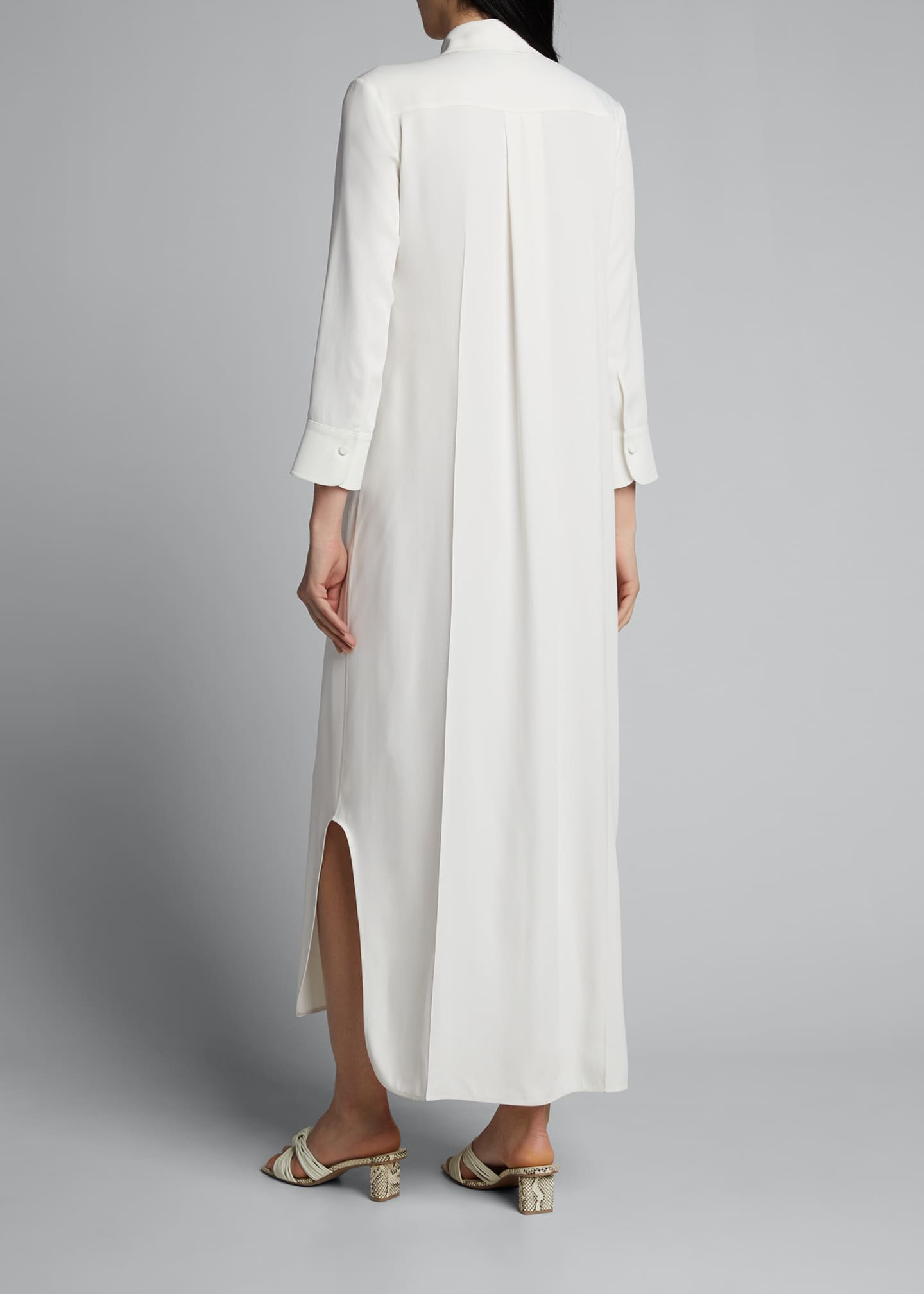 Image 2 of 5: Gabby Pintucked Maxi Shirtdress