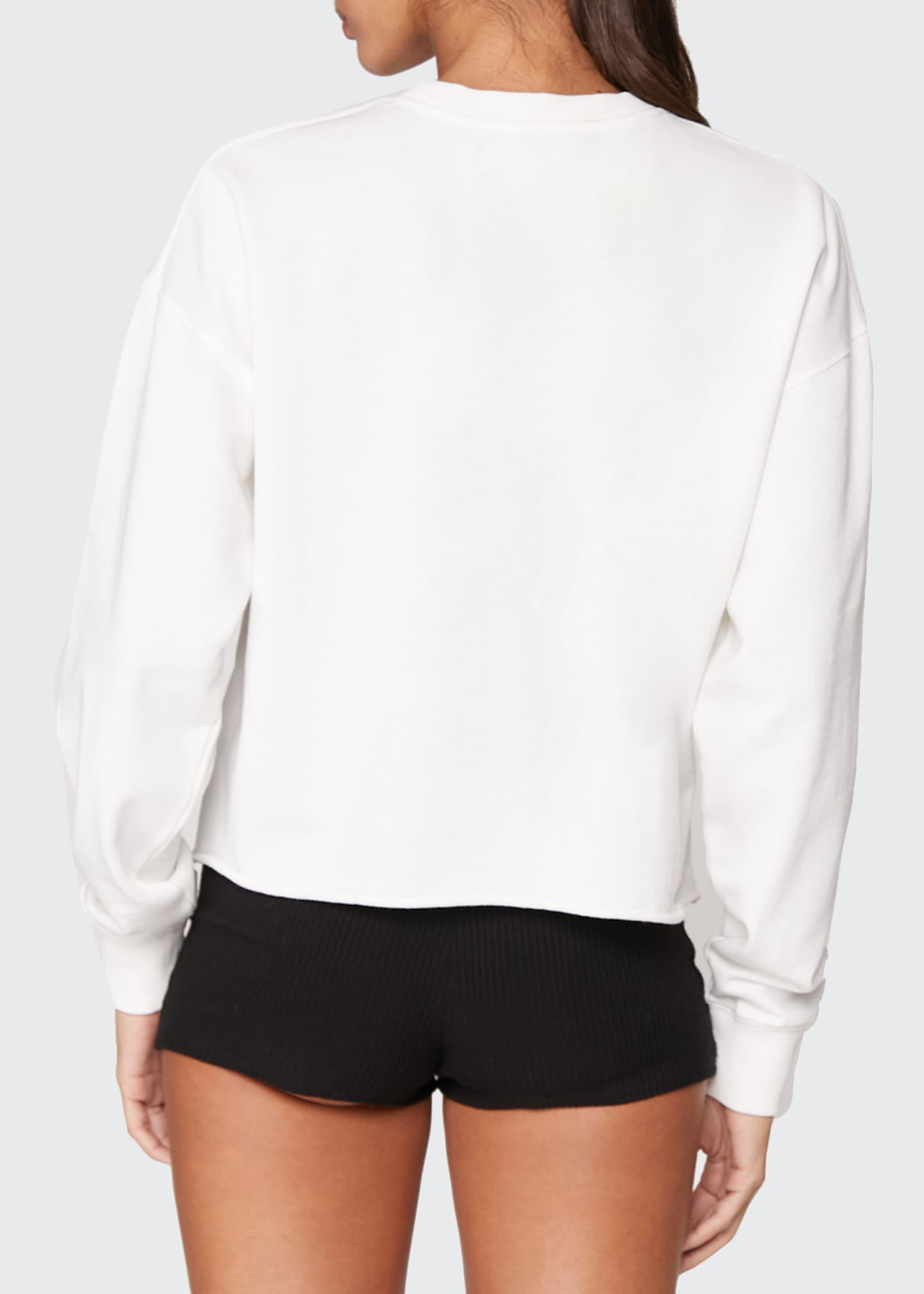 Image 2 of 3: Mazzy Crop Pullover Sweatshirt