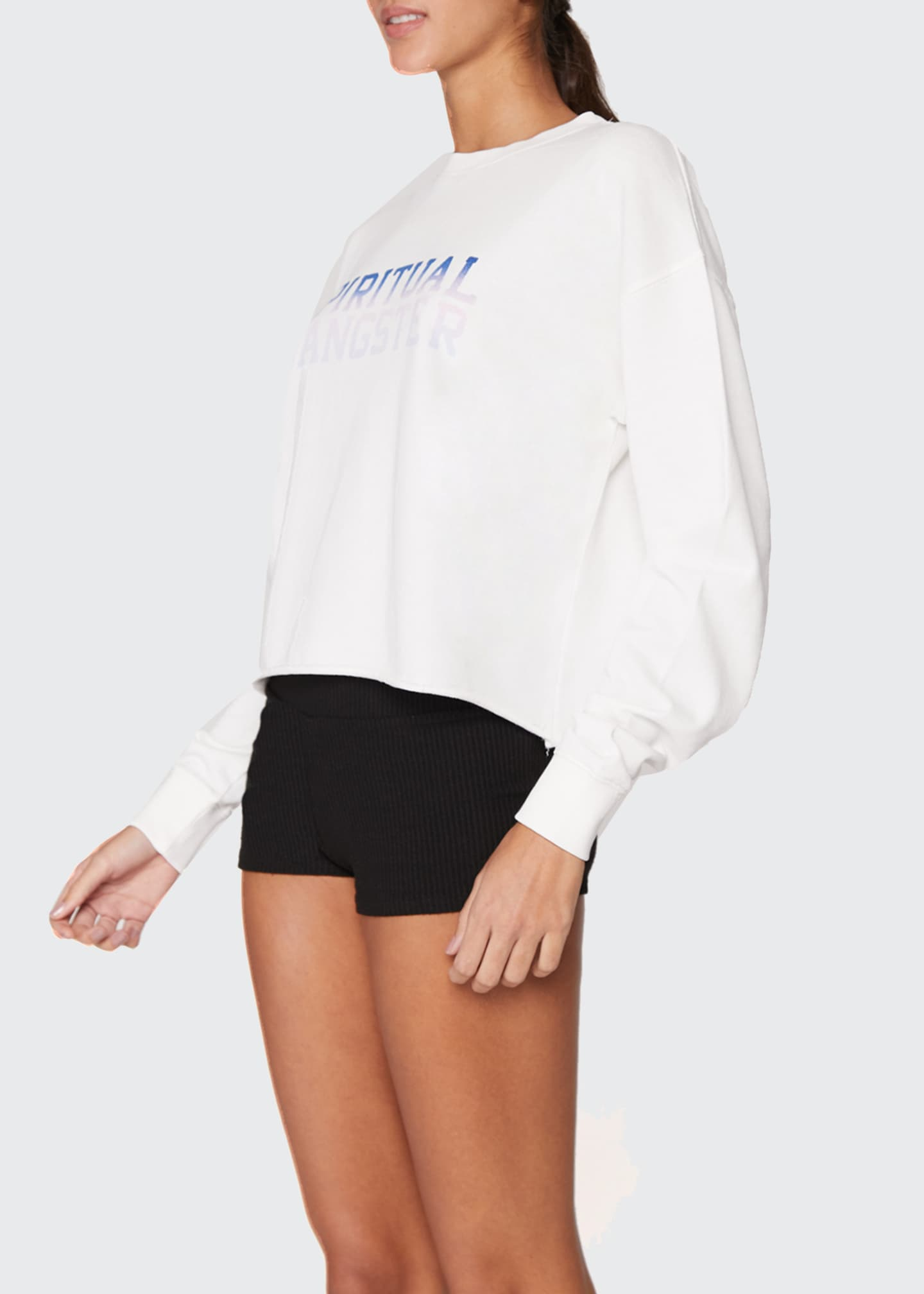Image 3 of 3: Mazzy Crop Pullover Sweatshirt