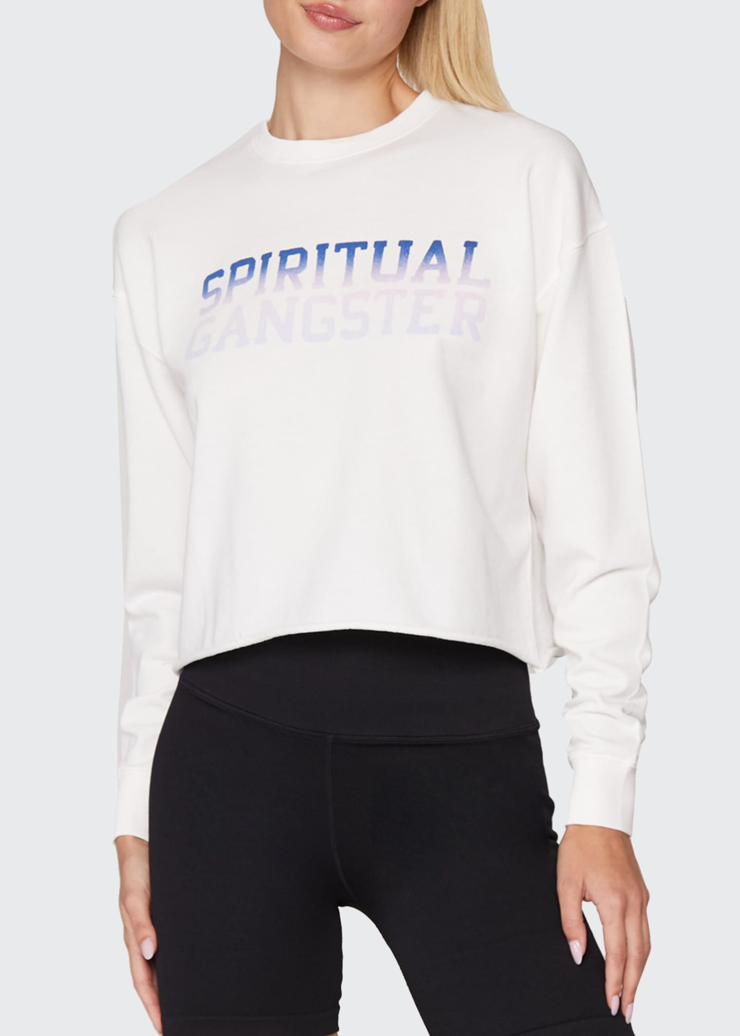 Image 1 of 3: Mazzy Crop Pullover Sweatshirt