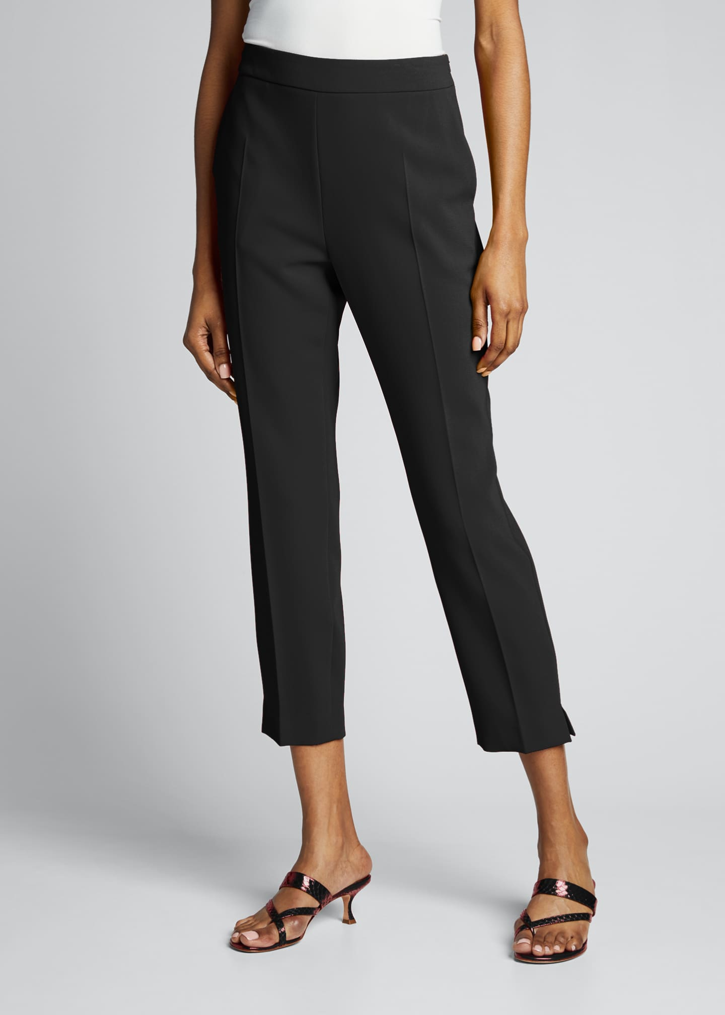 Image 3 of 5: Kerry Crepe Cropped Pants