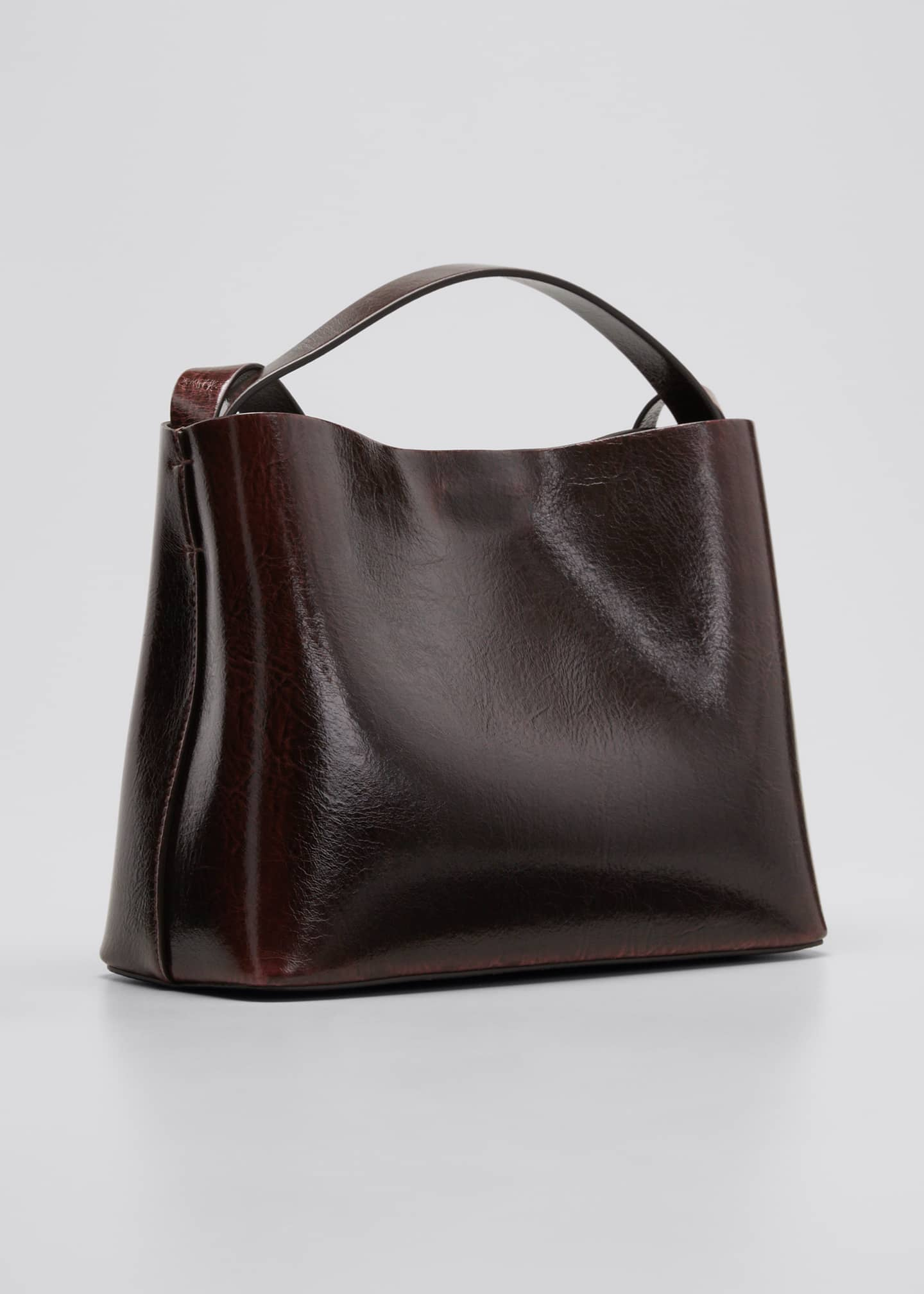 Image 3 of 5: Leather Mini Sac Crossbody Bag