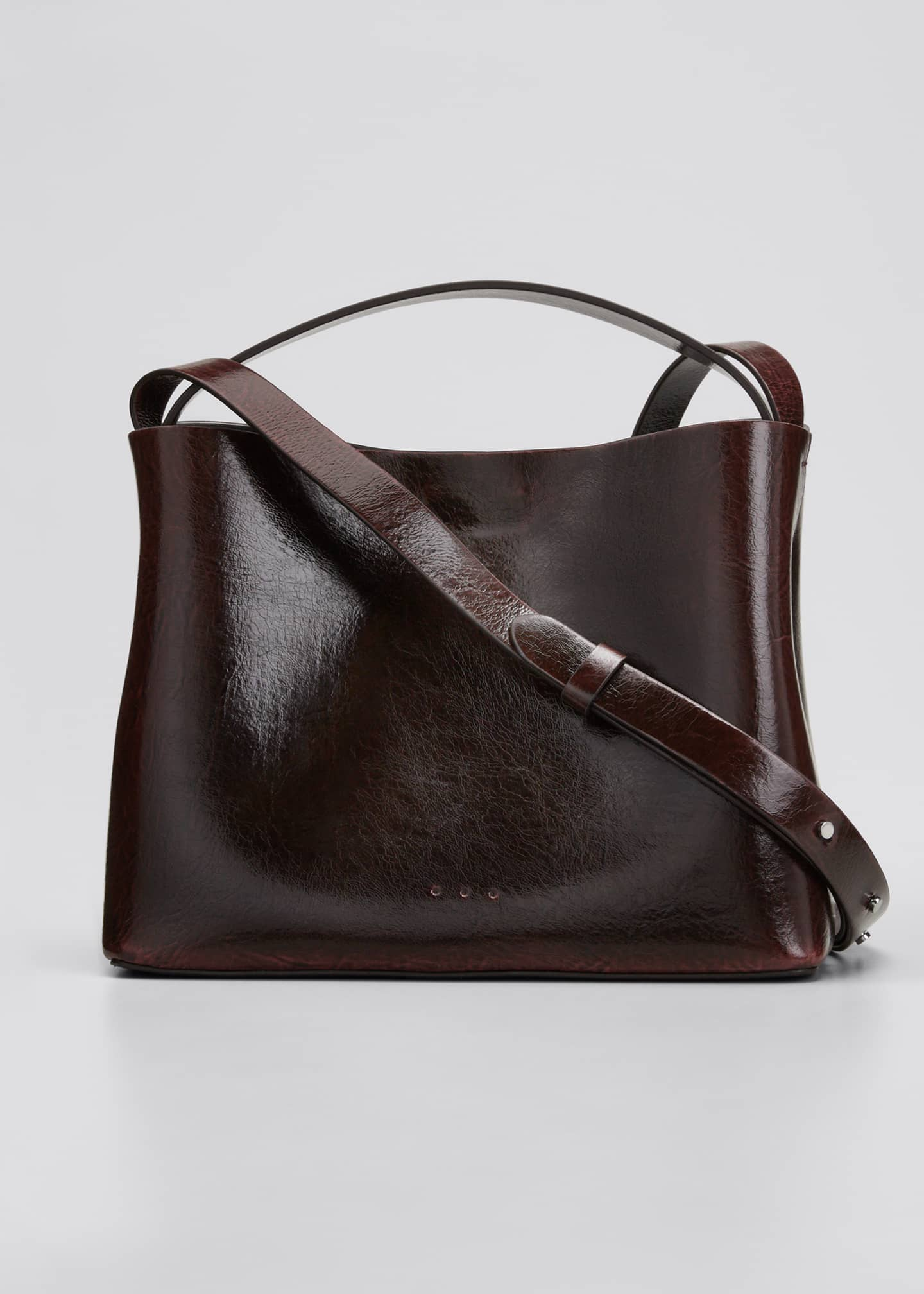 Image 1 of 5: Leather Mini Sac Crossbody Bag