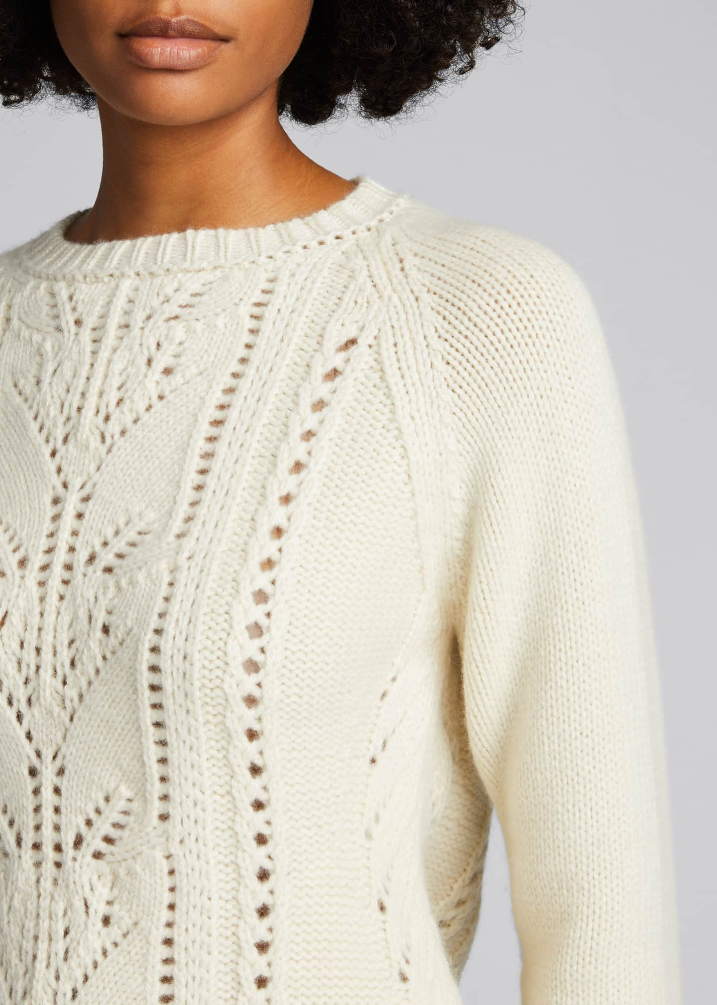 Image 4 of 5: Cable-Knit Cashmere Sweater