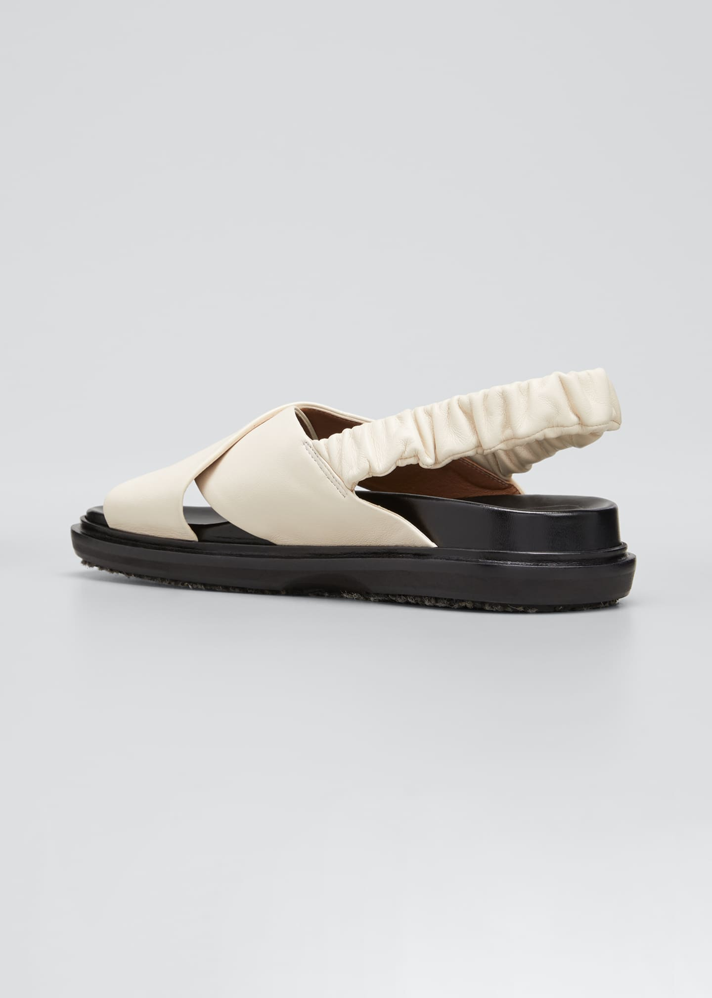 Image 4 of 5: Crisscross Leather Slingback Sandals