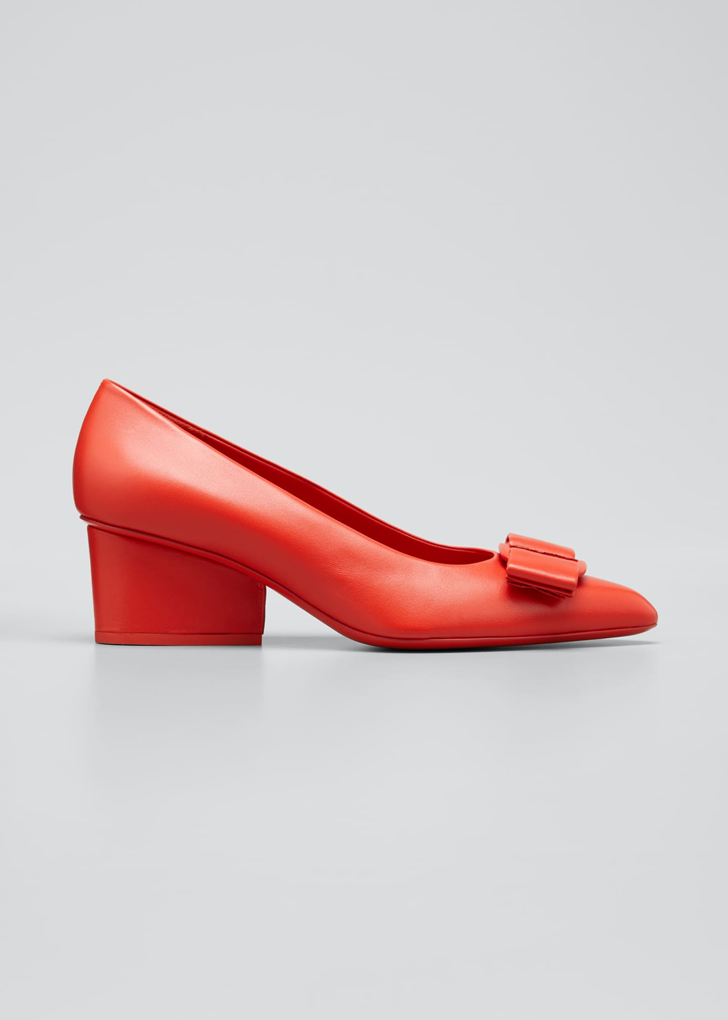 Image 1 of 3: Viva Leather Bow Pumps