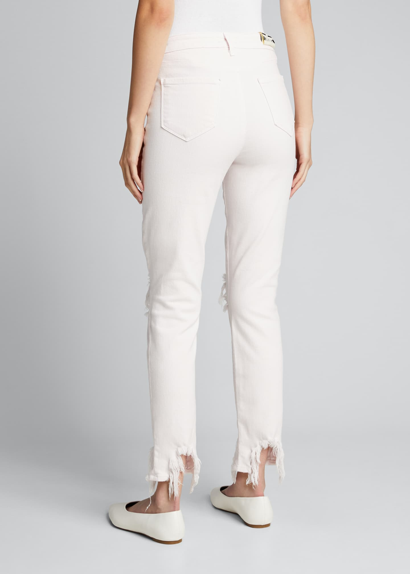 Image 2 of 5: High Line High-Rise Skinny Jeans with Knee Rip