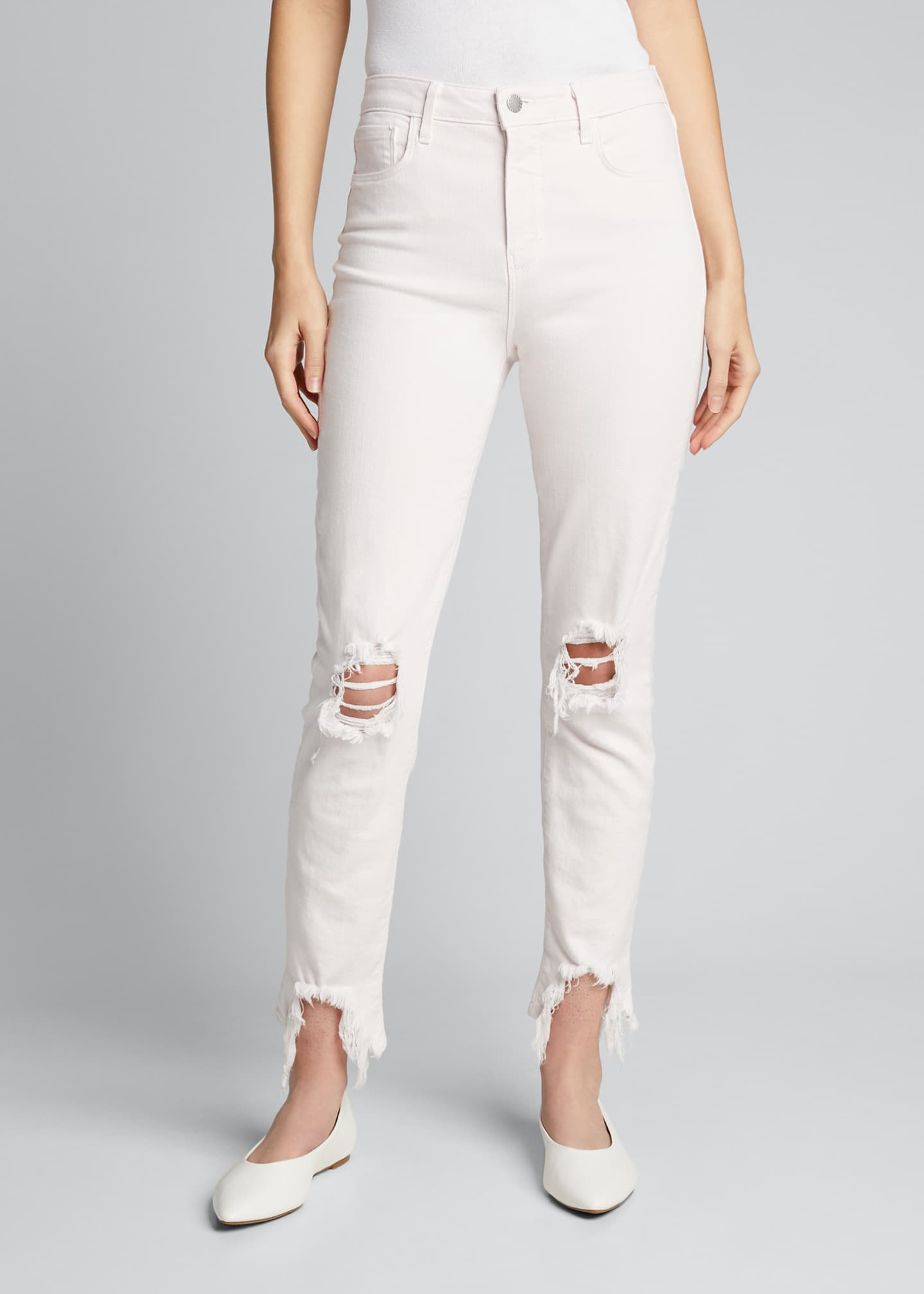 Image 3 of 5: High Line High-Rise Skinny Jeans with Knee Rip