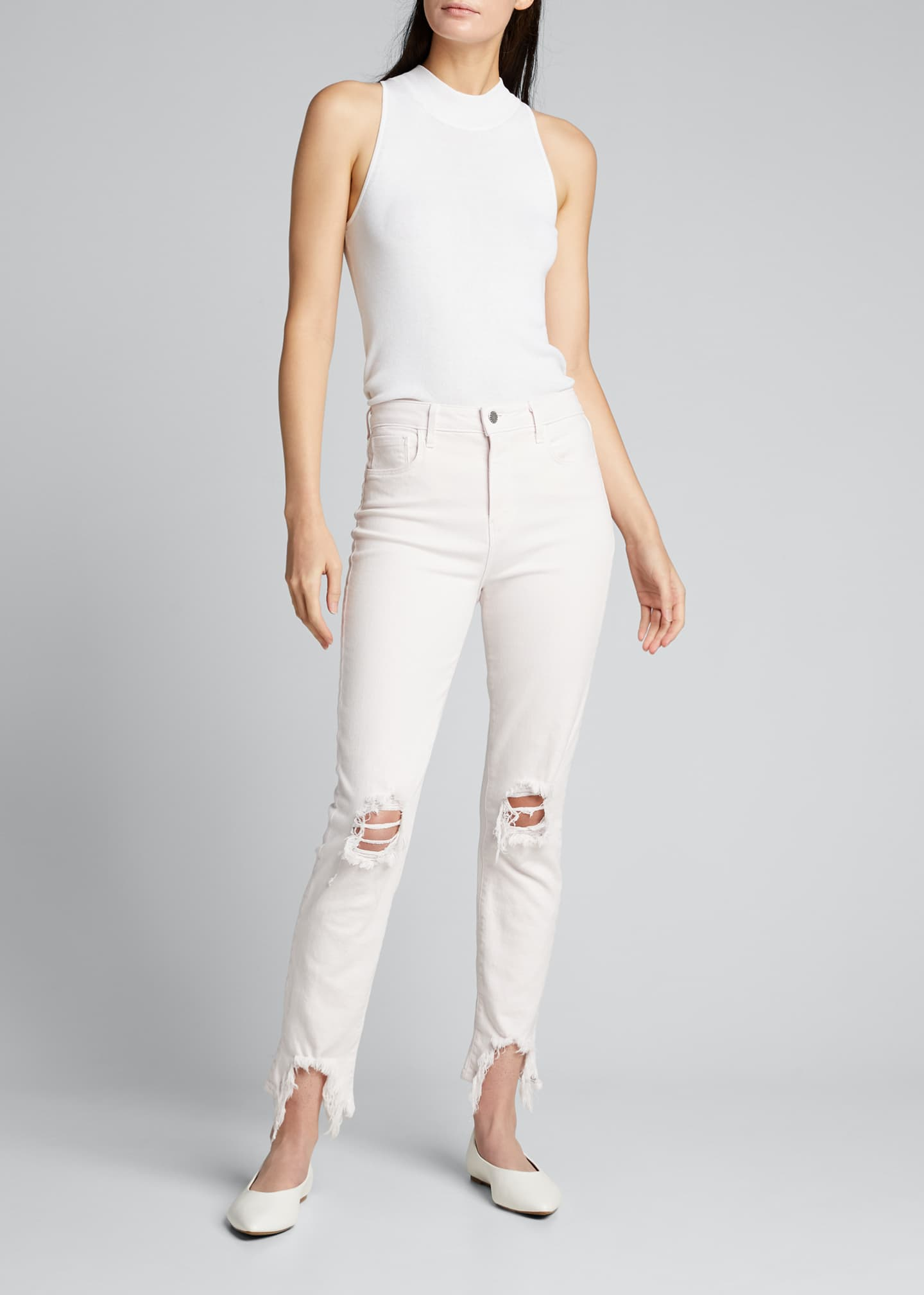 Image 1 of 5: High Line High-Rise Skinny Jeans with Knee Rip