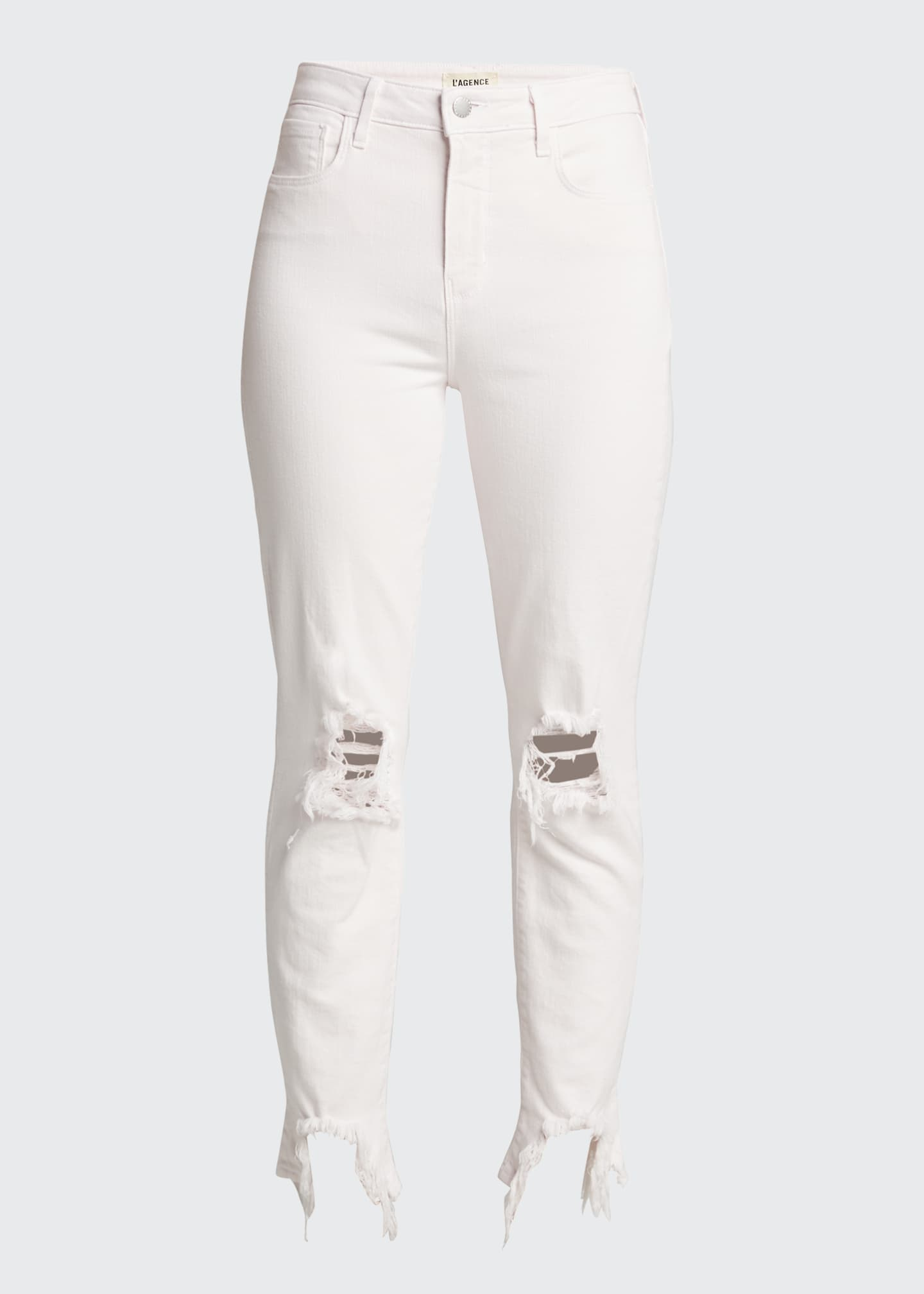 Image 5 of 5: High Line High-Rise Skinny Jeans with Knee Rip