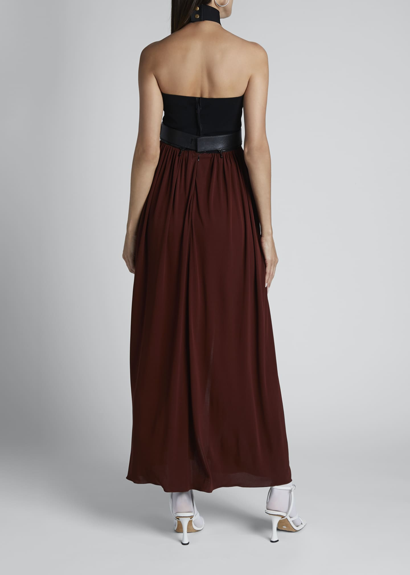 Image 2 of 2: Strapless Two-Tone Jersey Maxi Dress
