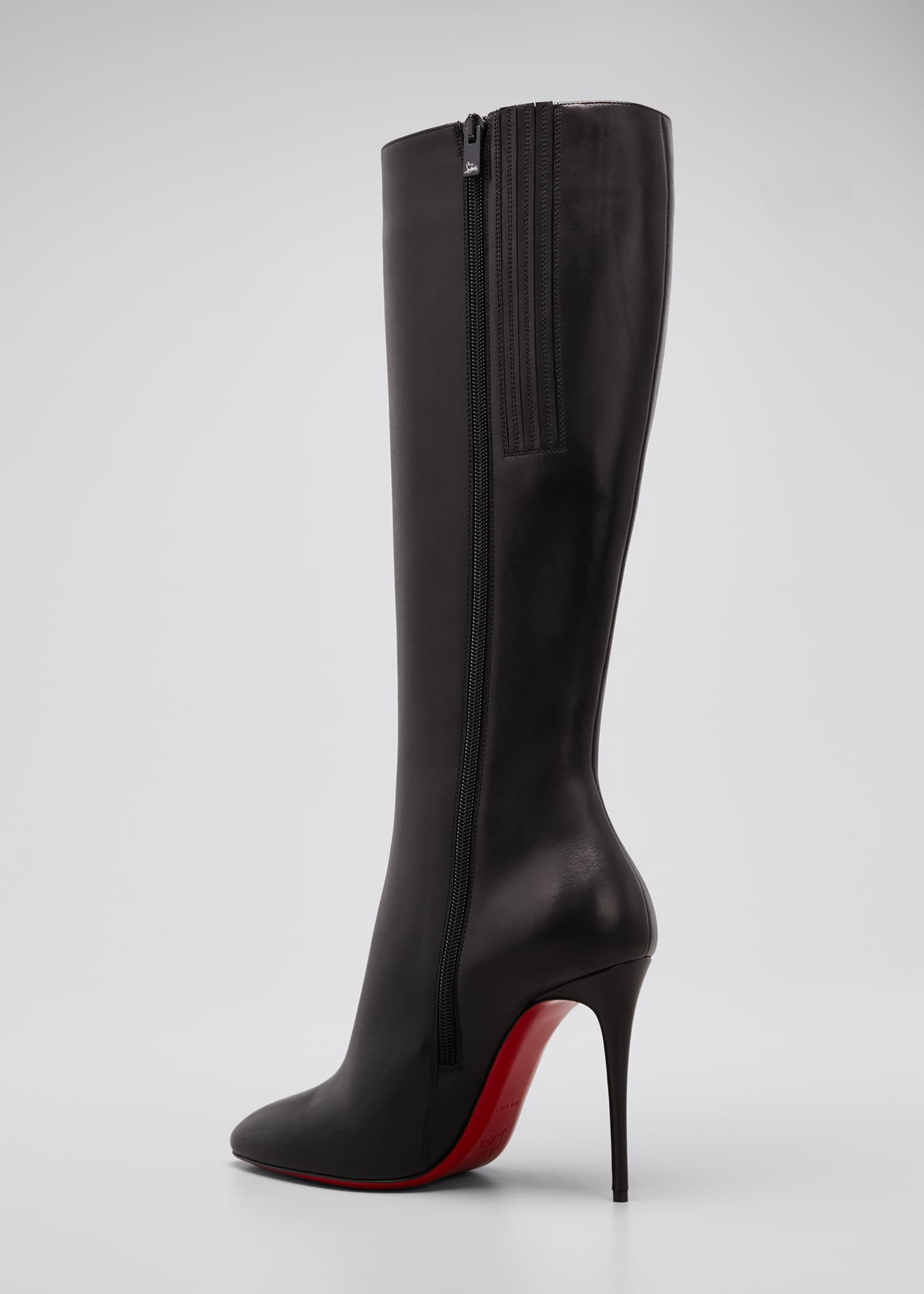 Image 4 of 5: Eloise Zip Red Sole Boots