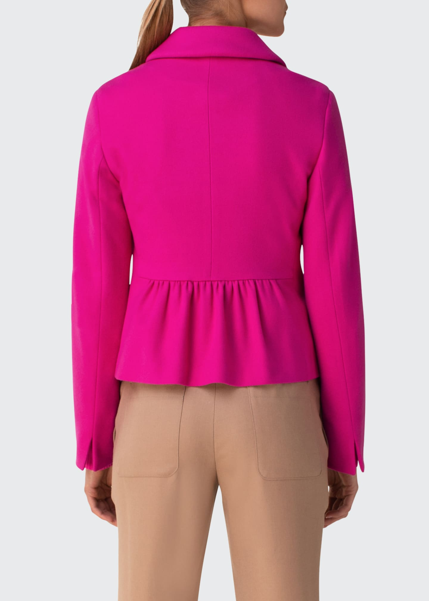 Image 2 of 2: Slim Peplum Wool-Cashmere Jacket