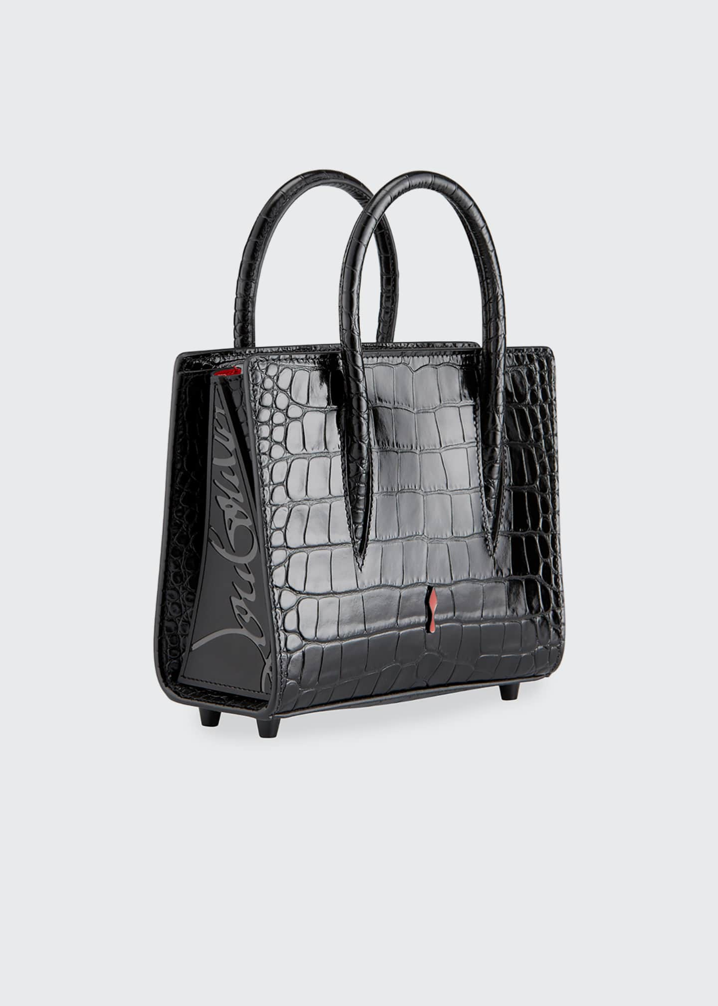 Image 3 of 5: Paloma Mini Mock-Croc Tote Bag