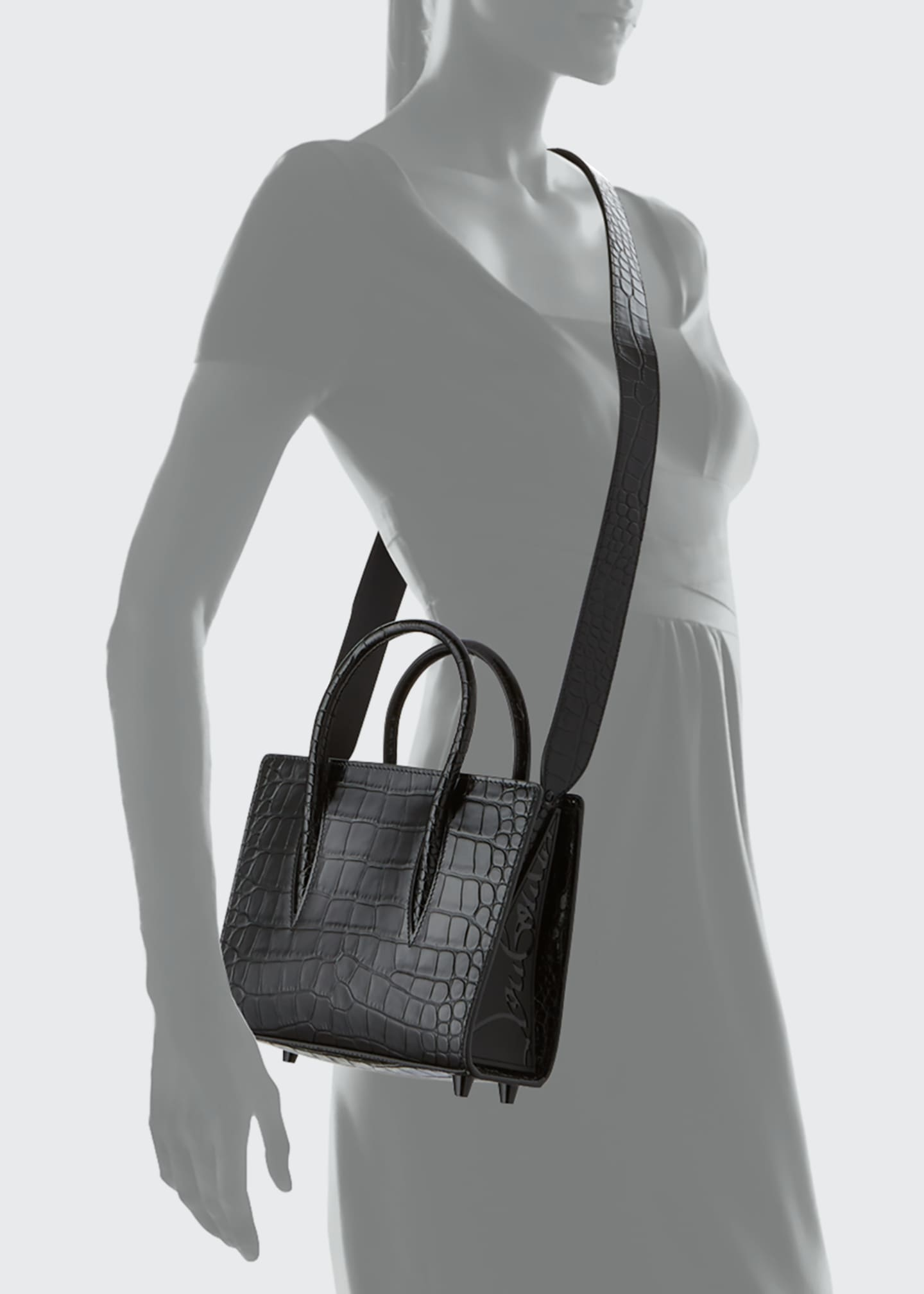 Image 4 of 5: Paloma Mini Mock-Croc Tote Bag