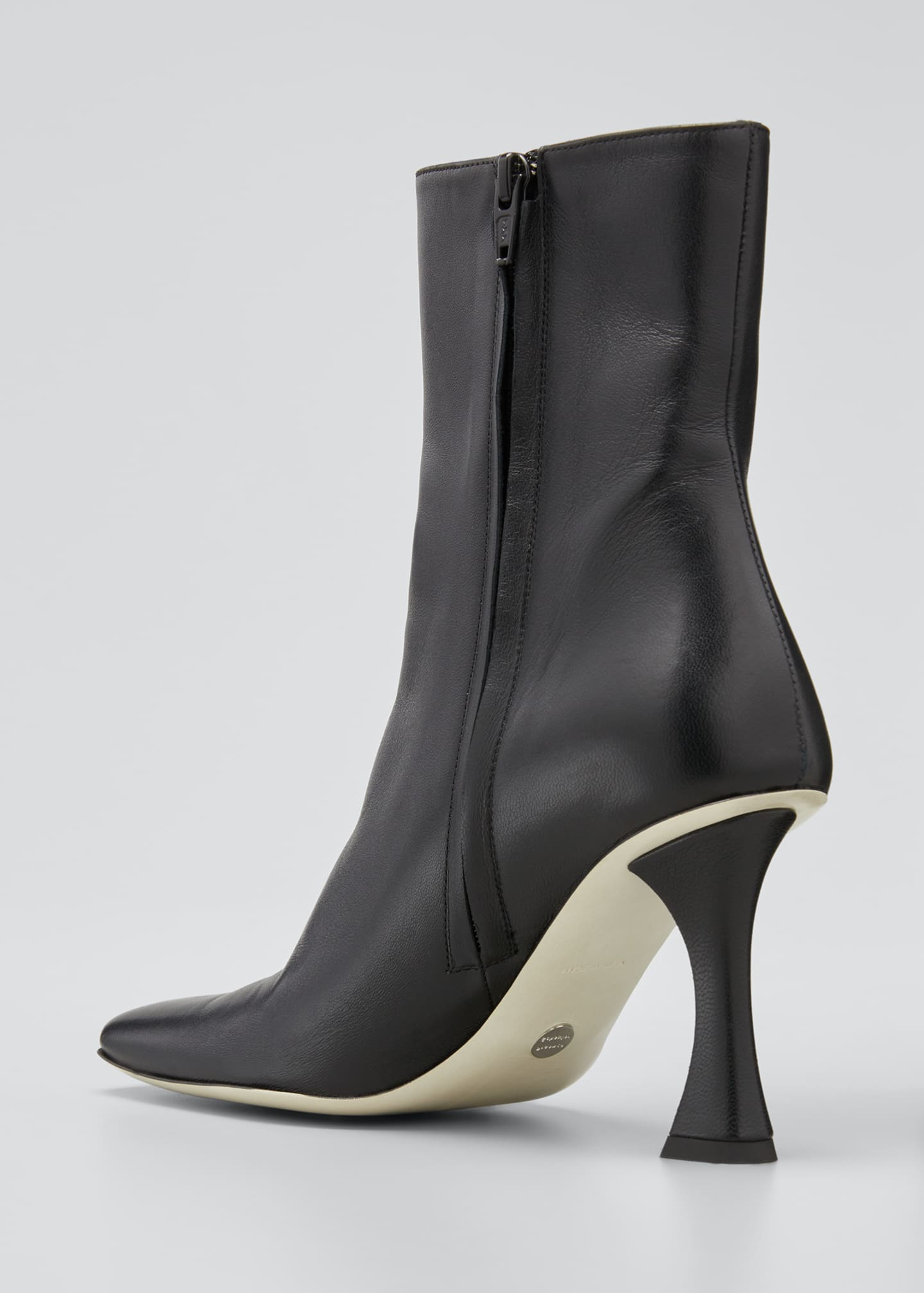 Image 2 of 3: Sofia 90mm Leather Zip Ankle Booties