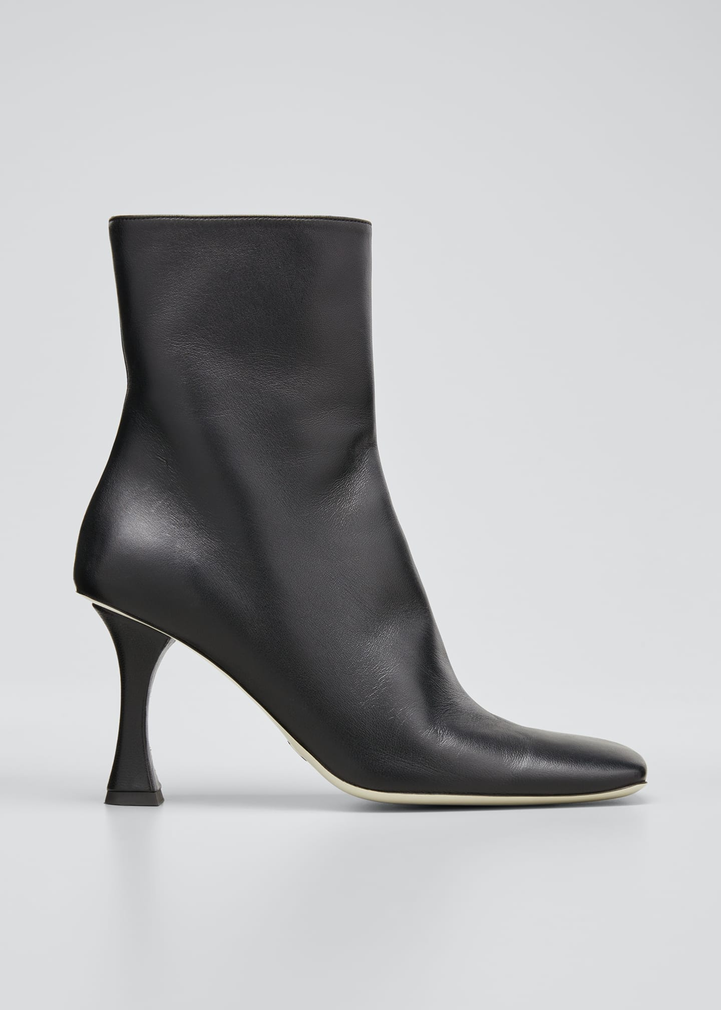 Image 1 of 3: Sofia 90mm Leather Zip Ankle Booties