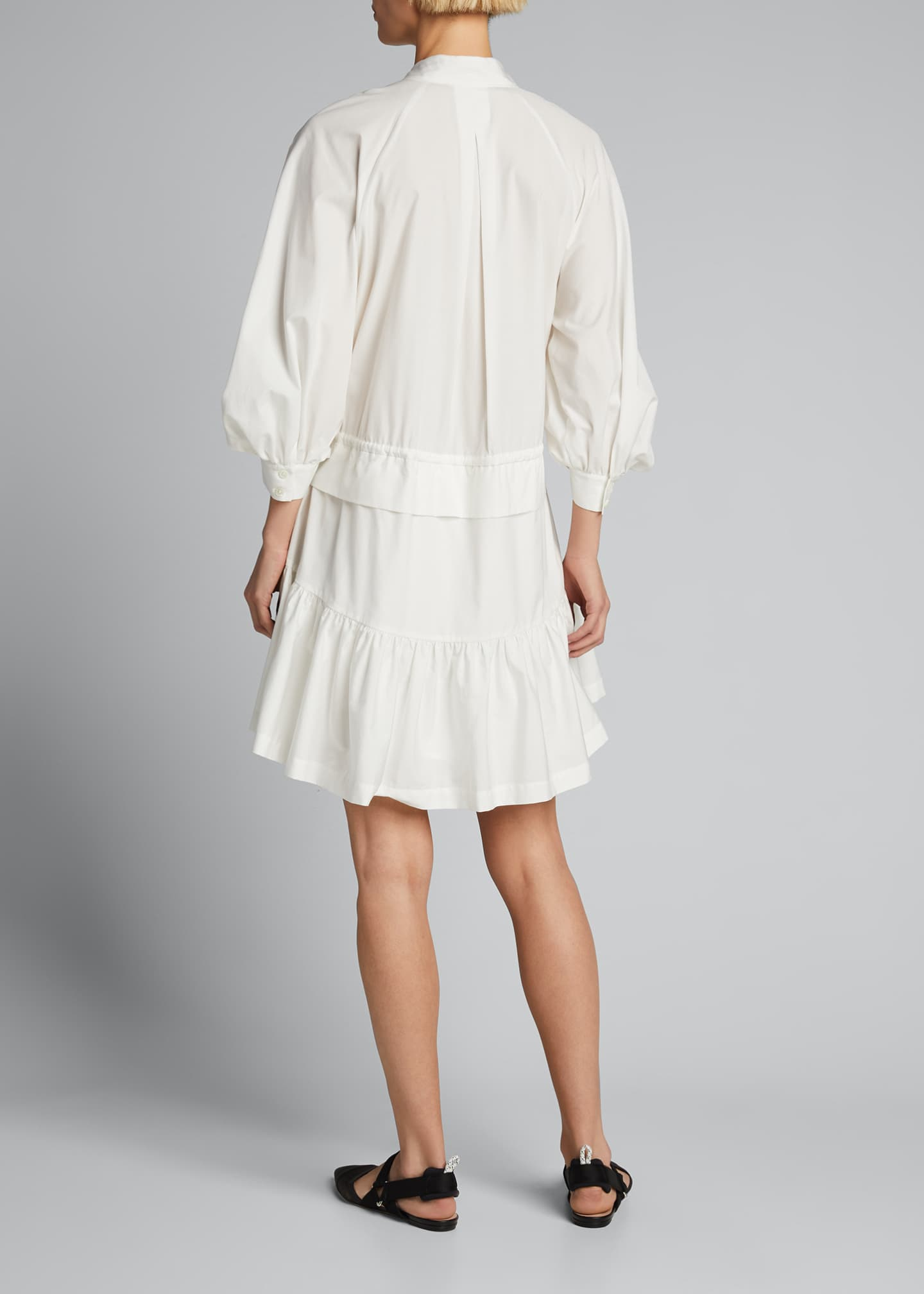 Image 2 of 5: Ruched 3/4-Sleeve Flounce Dress