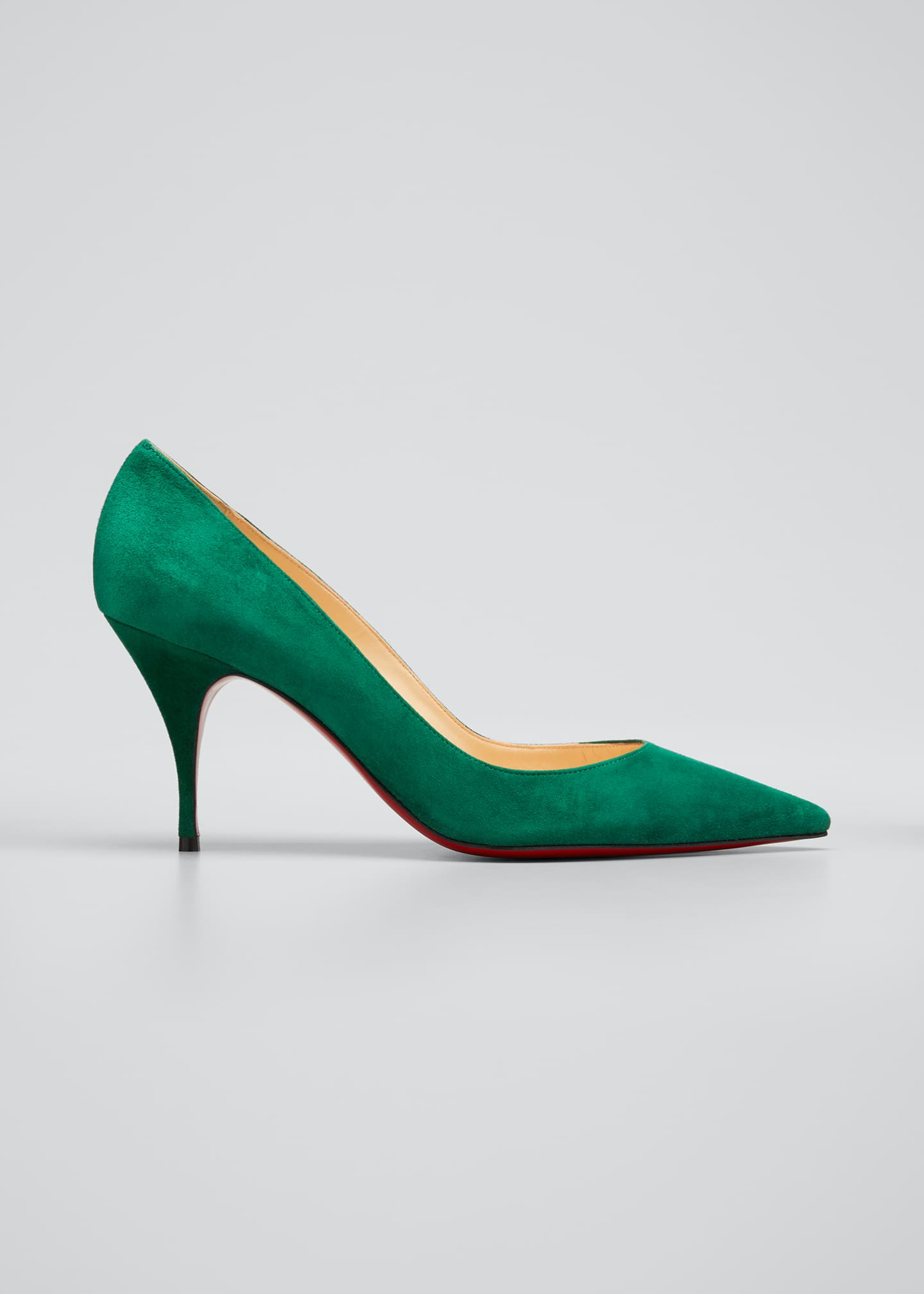 Image 1 of 5: Clare 80mm Suede Red Sole Pumps