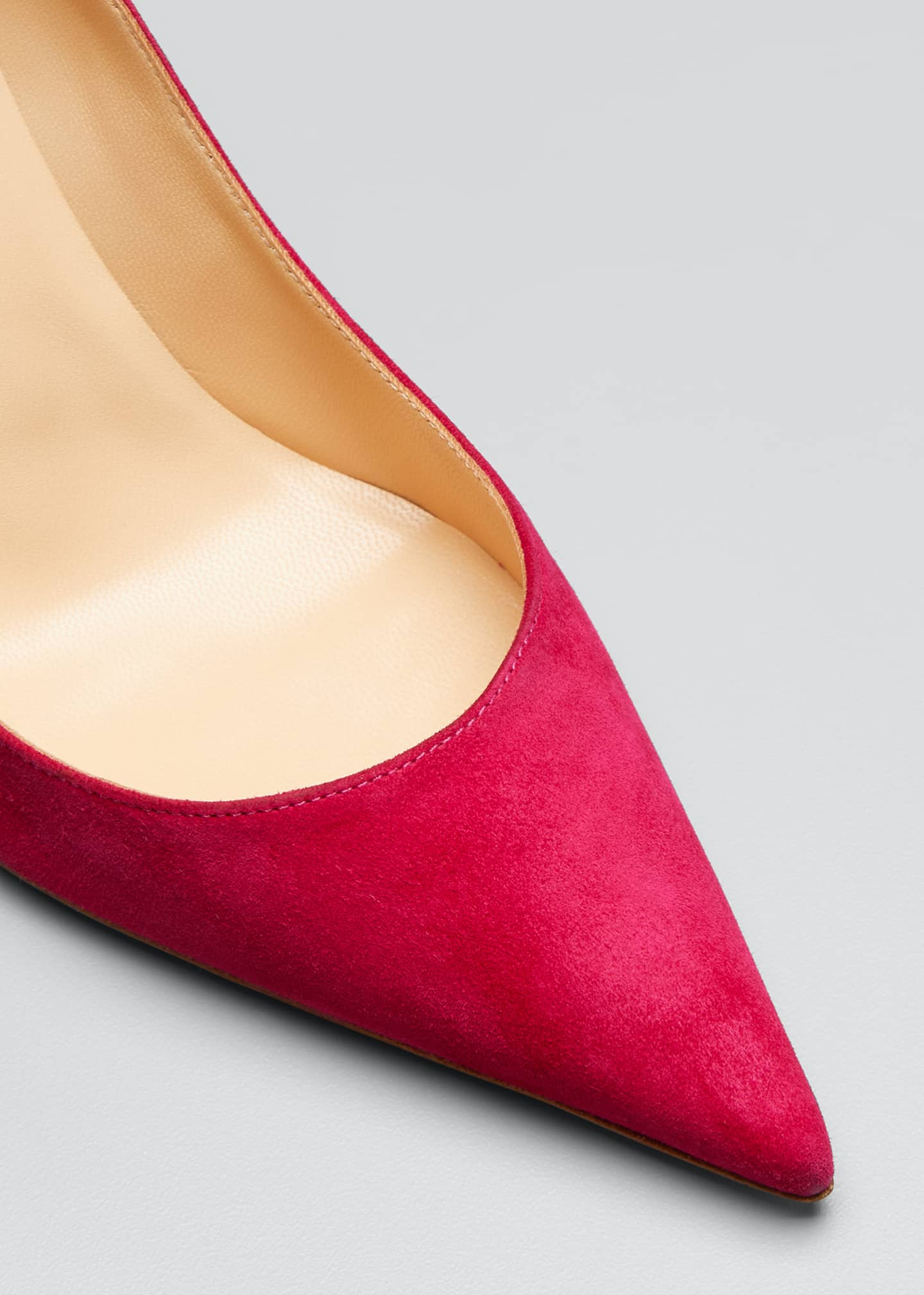 Image 5 of 5: Clare 80mm Suede Red Sole Pumps