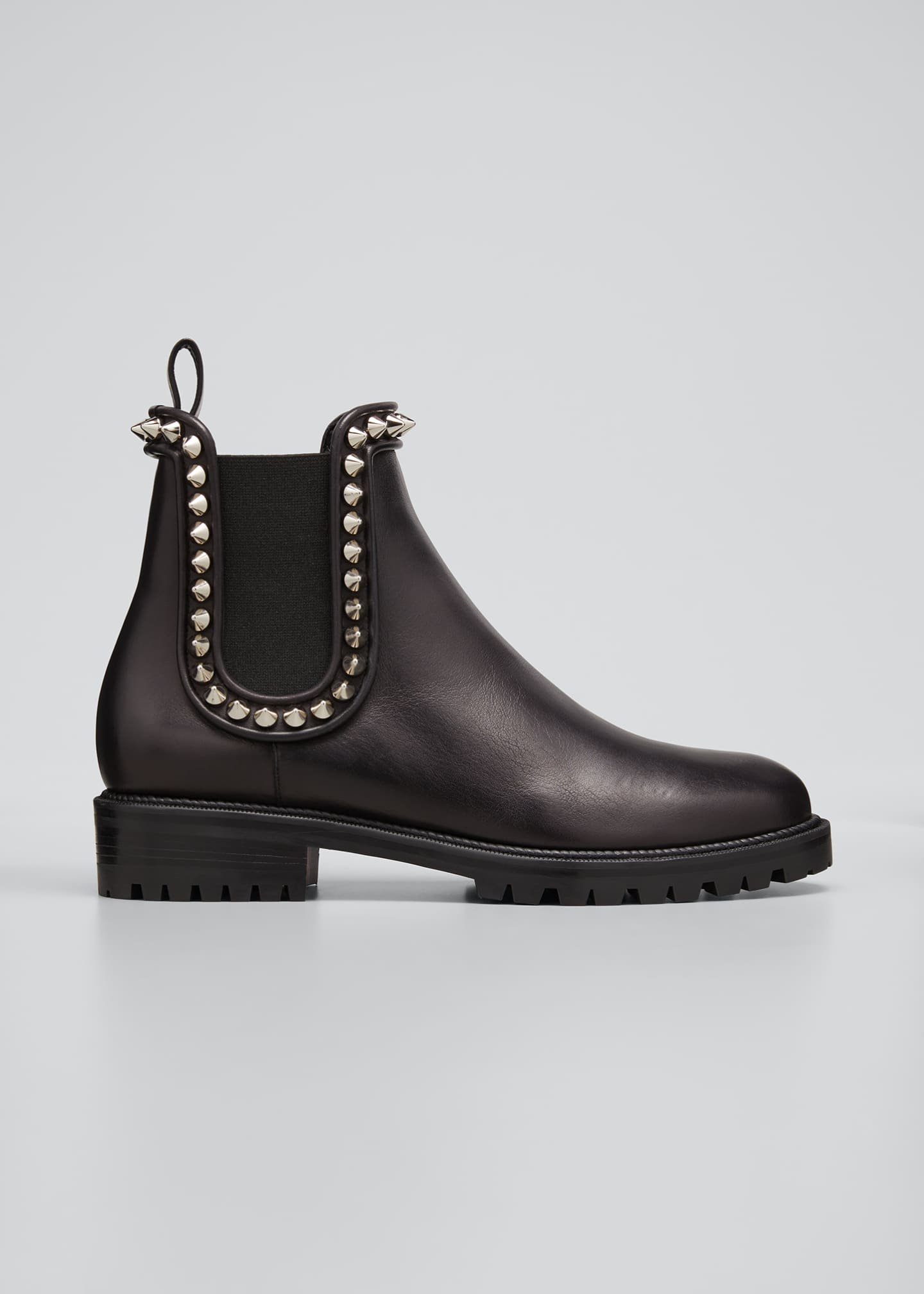 Image 1 of 3: Crapahutta Spiked Leather Ankle Booties