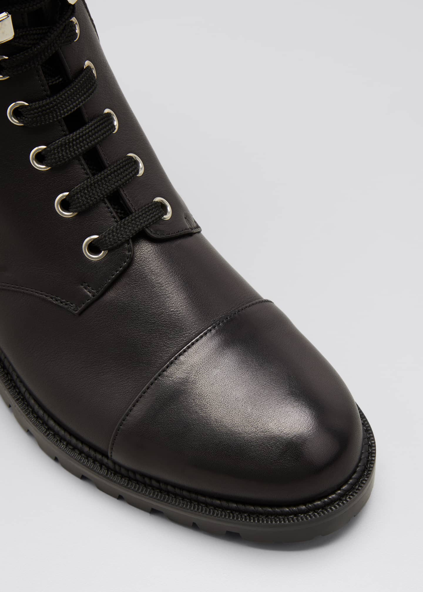 Image 5 of 5: Hiver Dual-Zip Red Sole Combat Booties