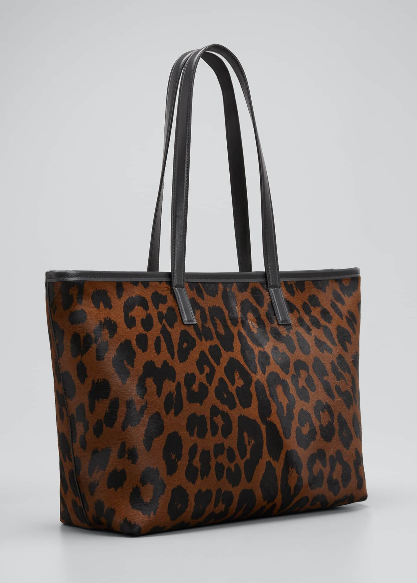 Image 2 of 3: Medium Leopard-Print Zip Tote Bag