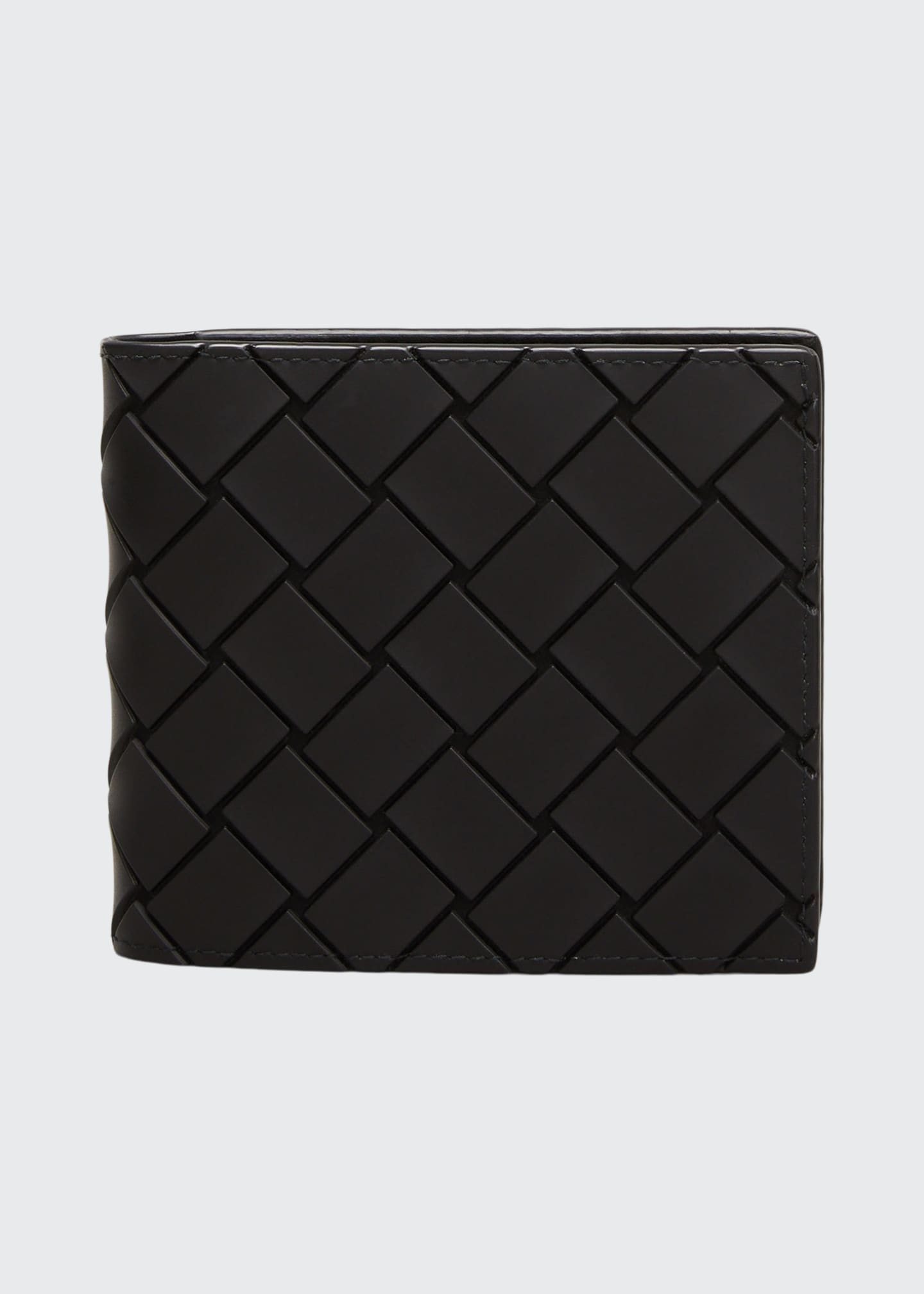 Image 1 of 2: Men's Woven Rubber Wallet